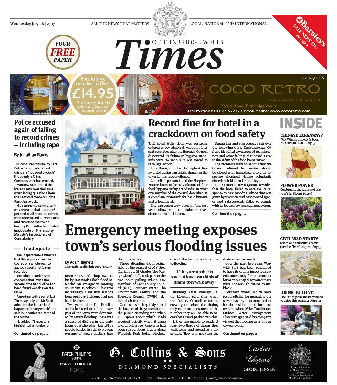 Read the Times of Tunbridge Wells 26th July 2017