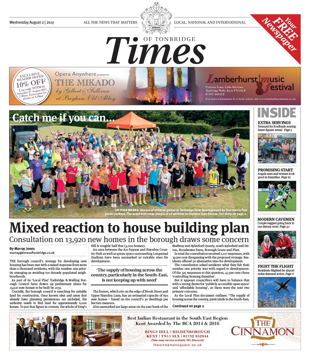 Read the Times of Tonbridge 2nd August 2017