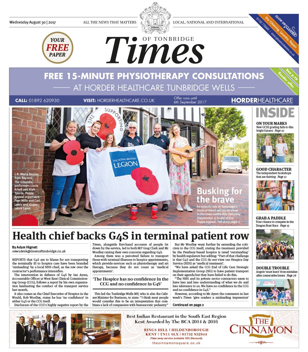 Read the Times of Tonbridge 30th August 2017