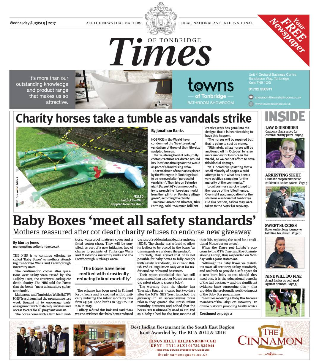 Read the Times of Tonbridge 9th August 2017