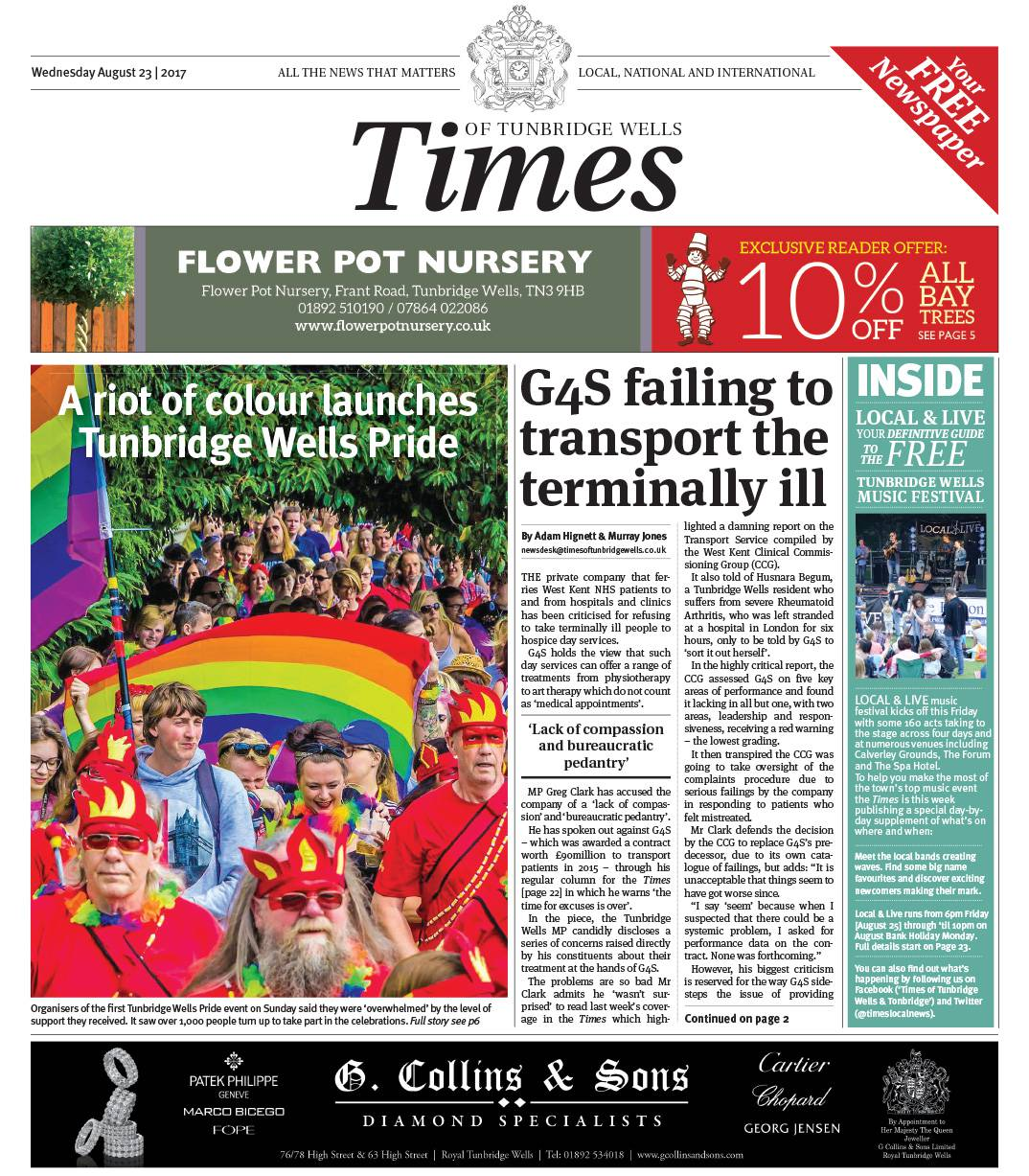 Read the Times of Tunbridge Wells 23rd August 2017