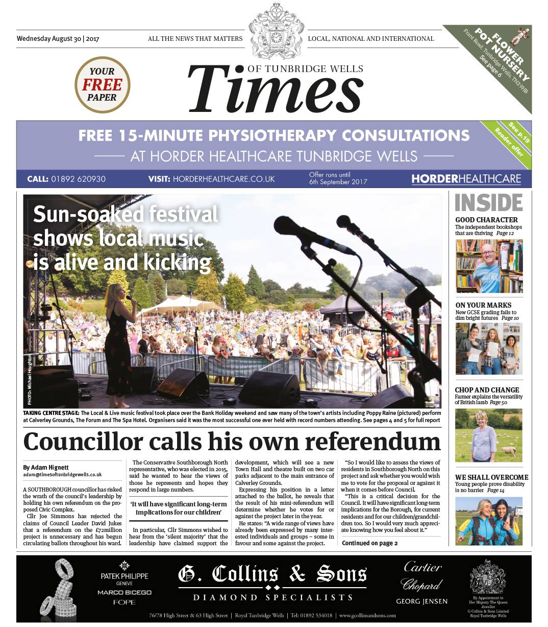 Read the Times of Tunbridge Wells 30th August 2017