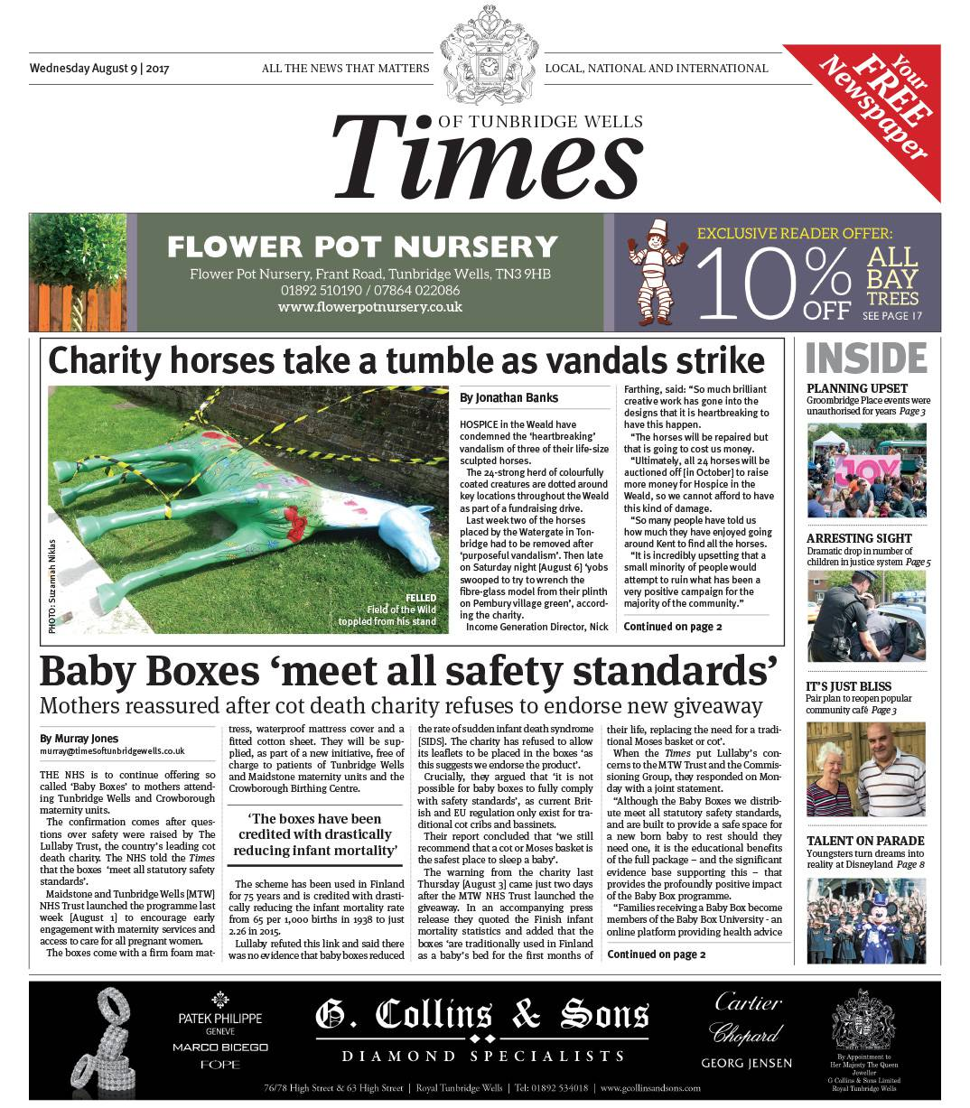 Read the Times of Tunbridge Wells 9th August 2017