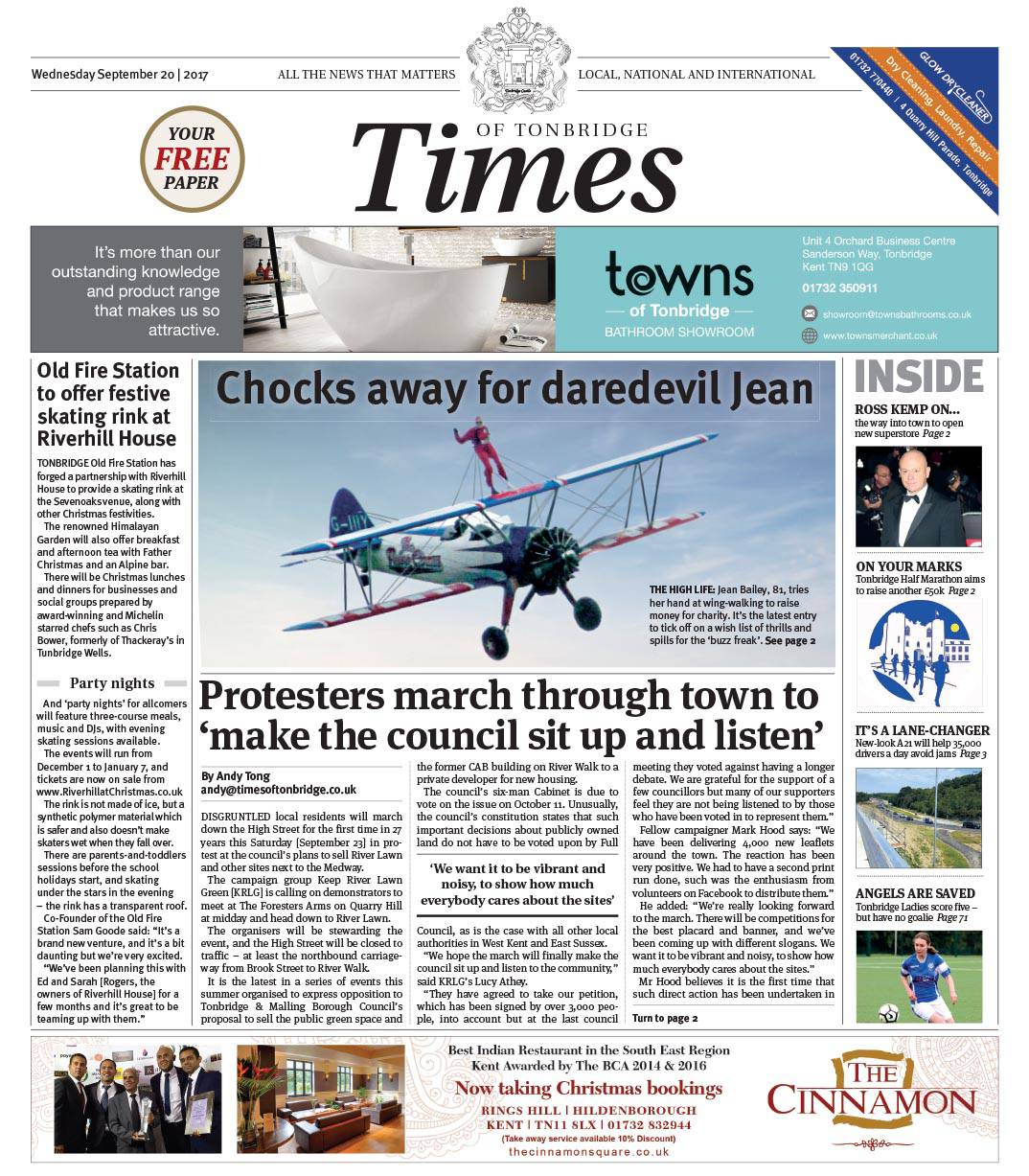 Read the Times of Tonbridge 20th September 2017