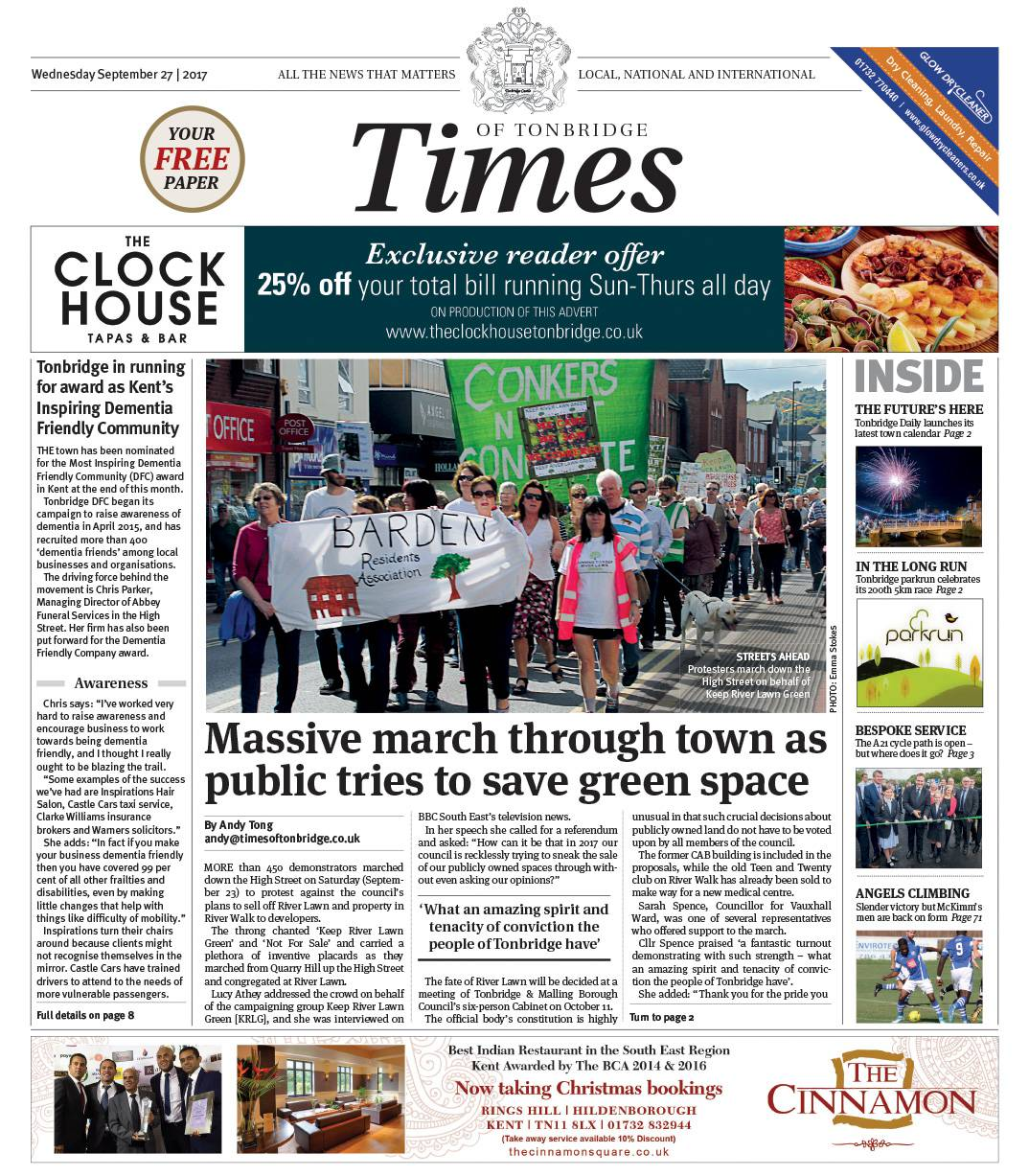Read the Times of Tonbridge 27th September 2017