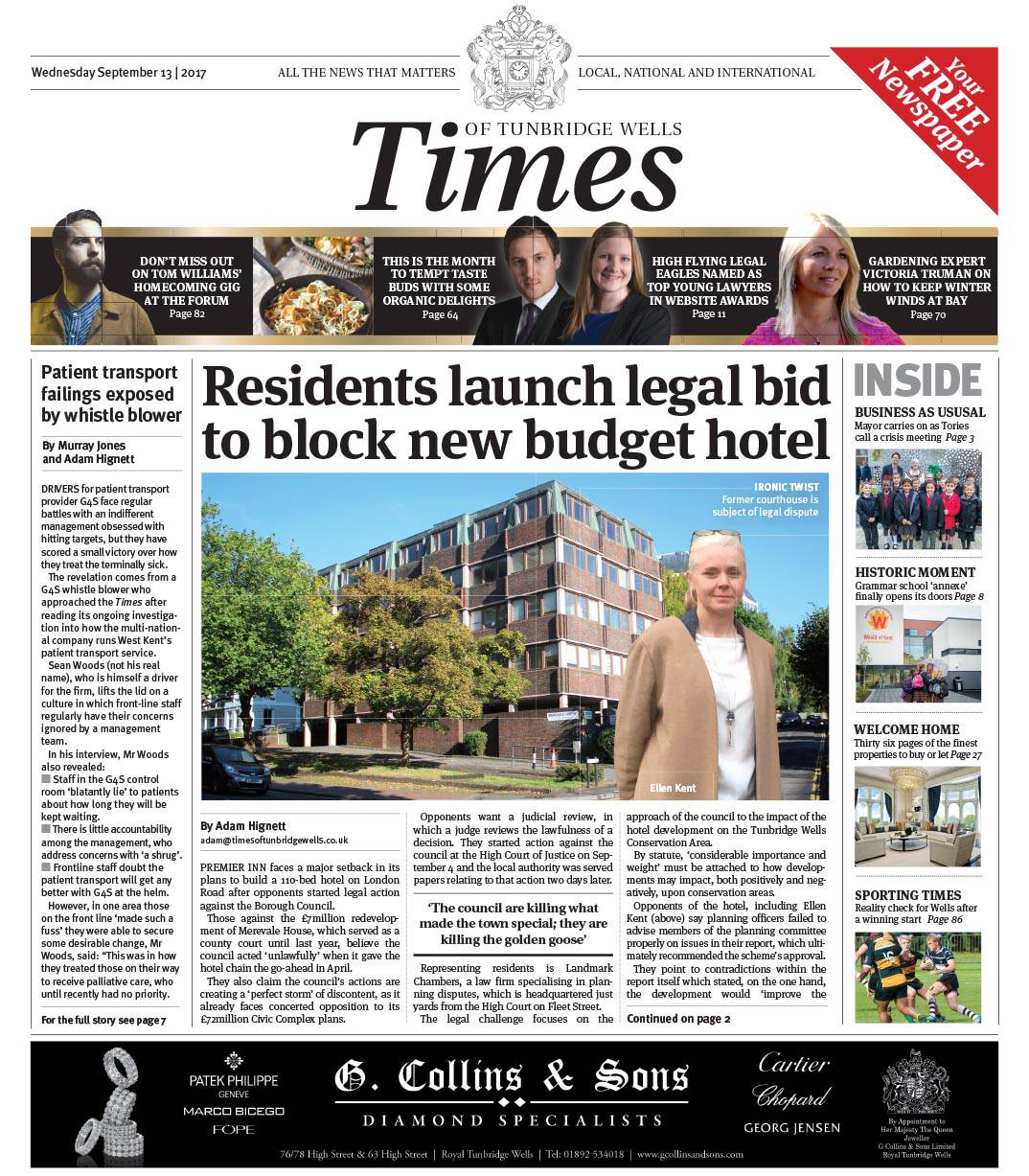 Read the Times of Tunbridge Wells 13th September 2017
