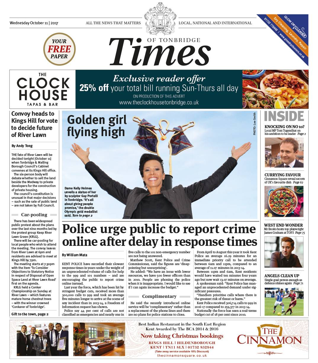 Read the Times of Tonbridge 11th October 2017