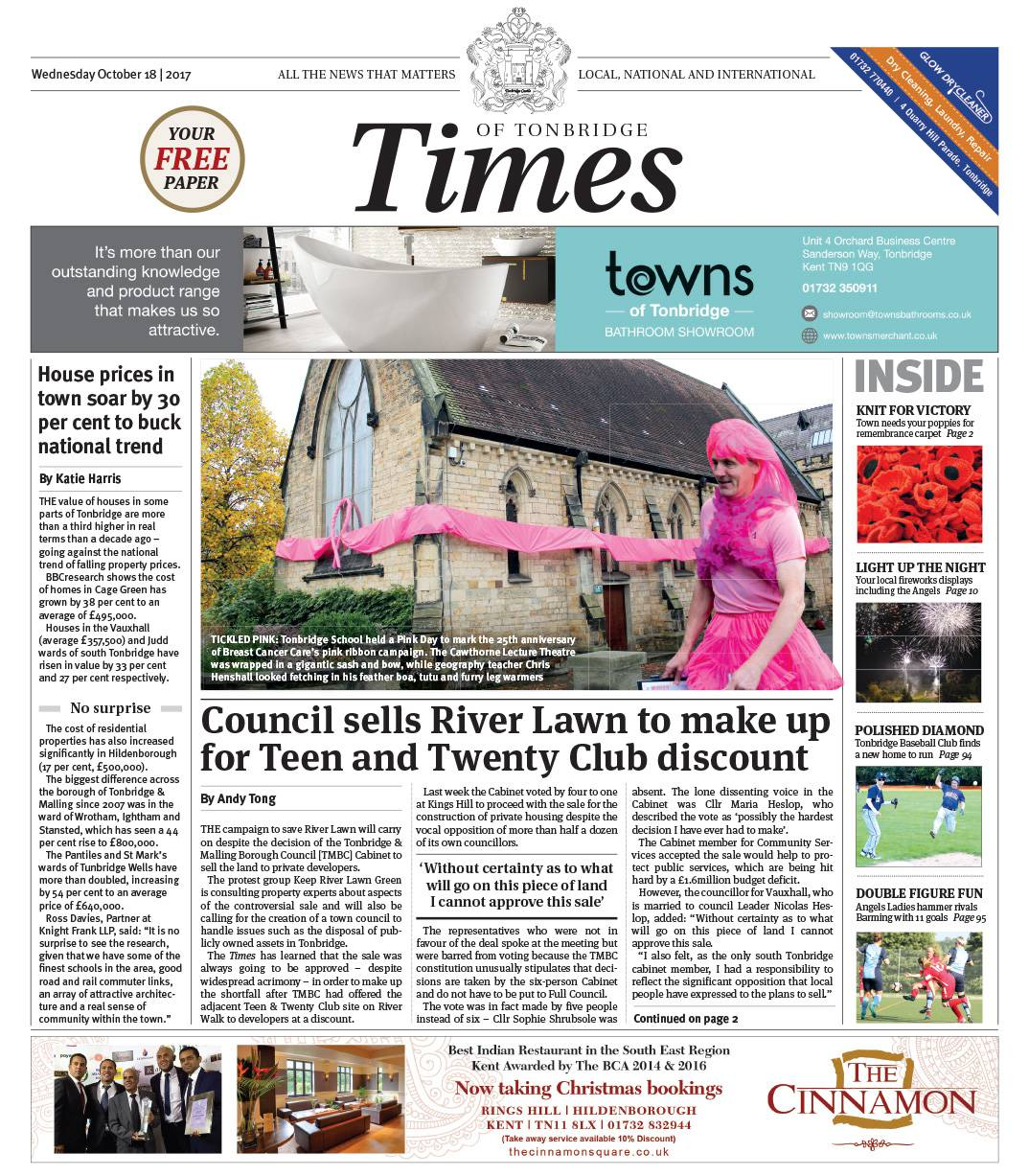 Read the Times of Tonbridge 18th October 2017