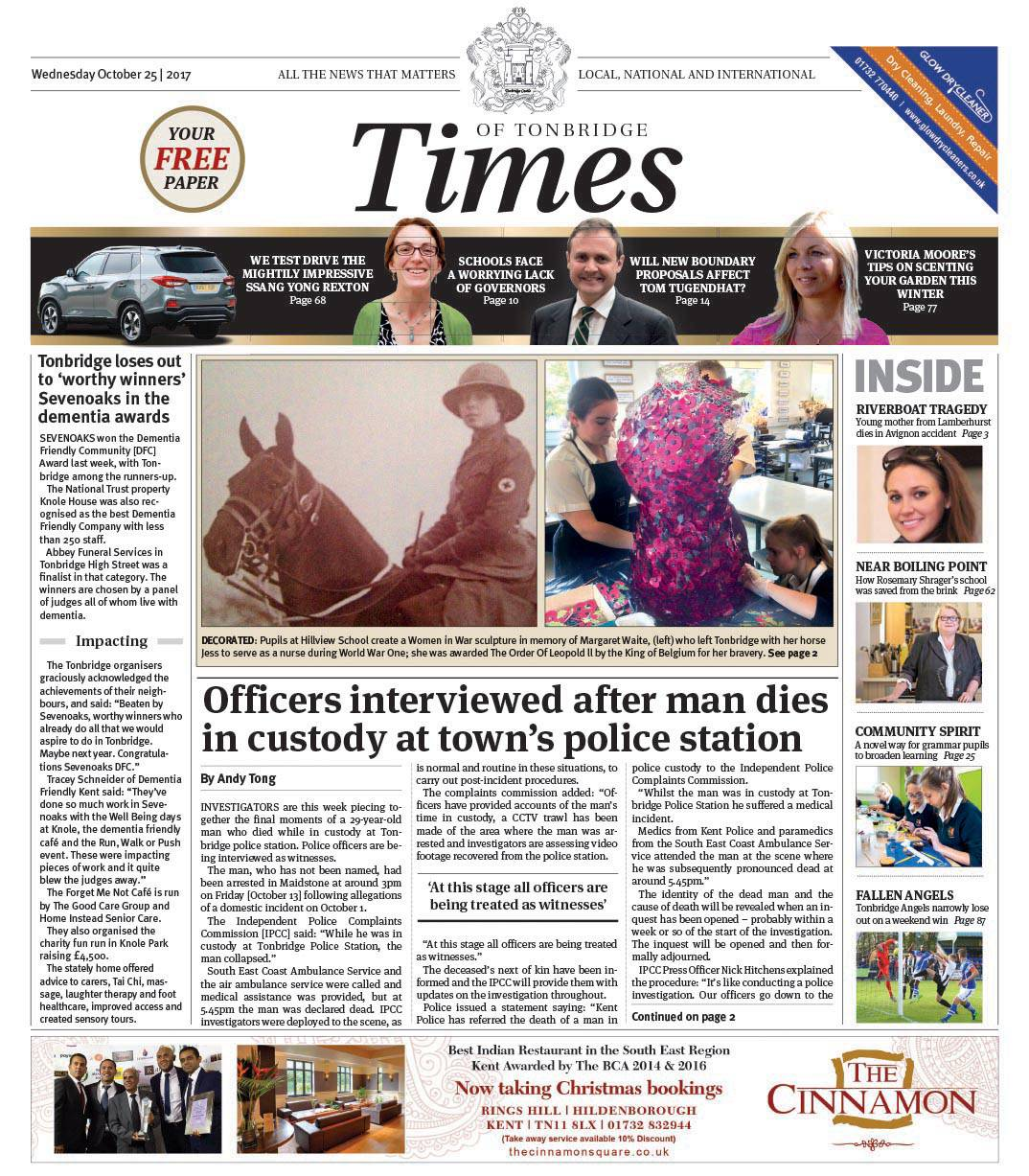 Read the Times of Tonbridge 25th October 2017