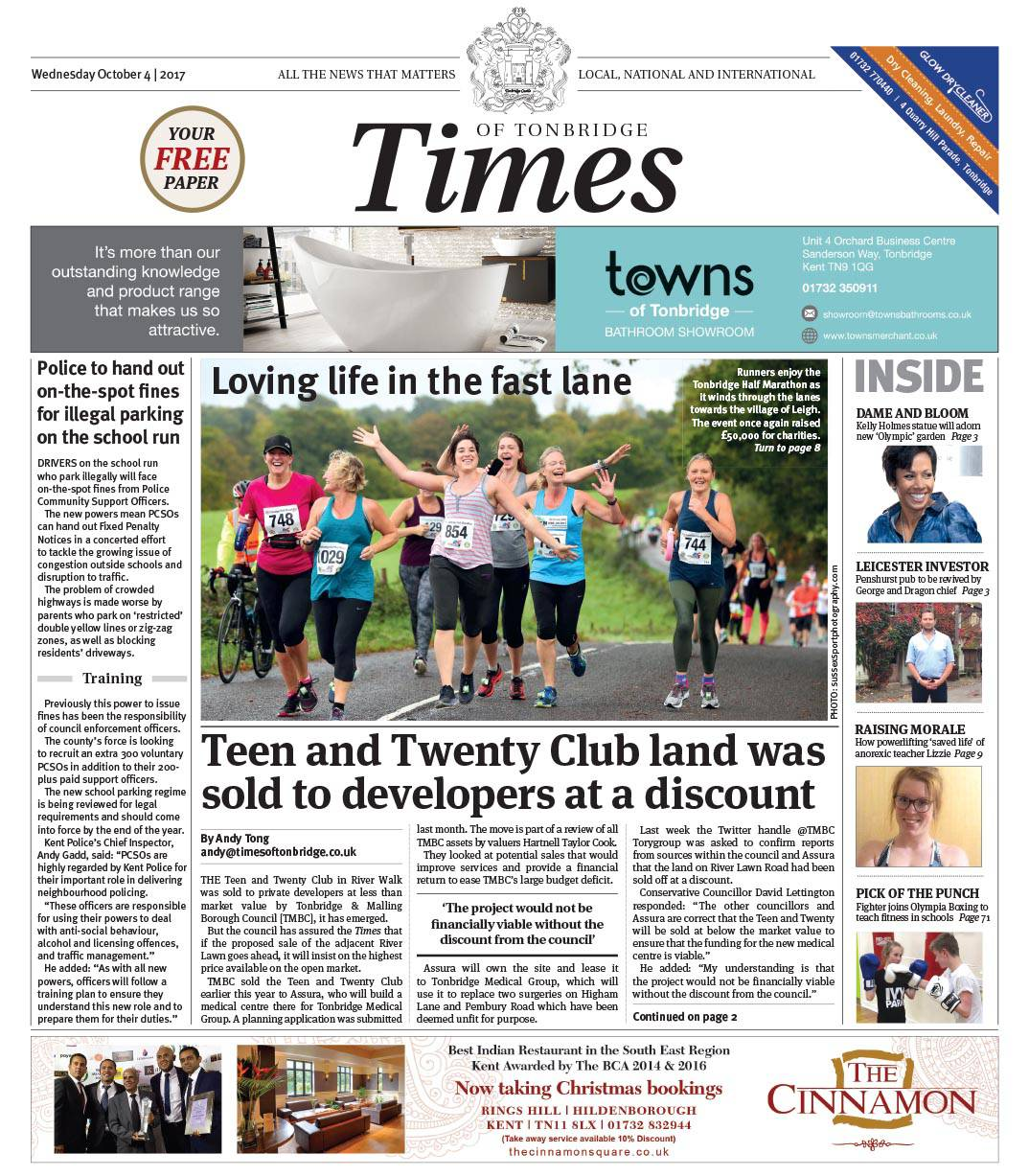 Read the Times of Tonbridge 4th October 2017