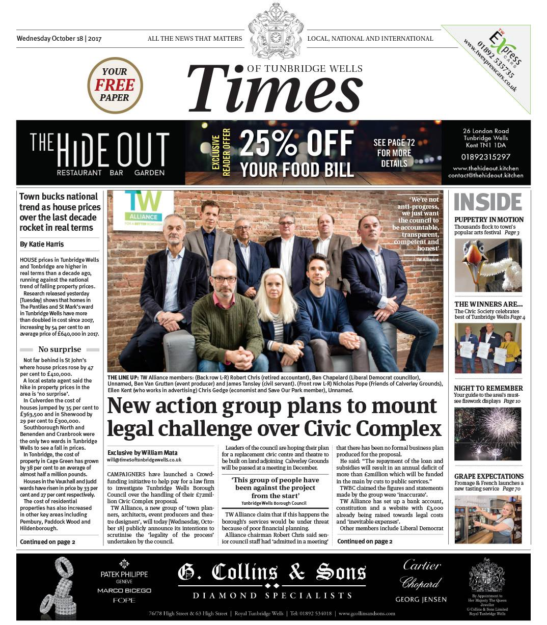 Read the Times of Tunbridge Wells 18th October 2017