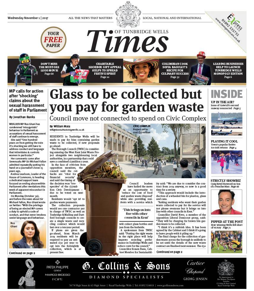 Read the Times of Tunbridge Wells 1st November 2017