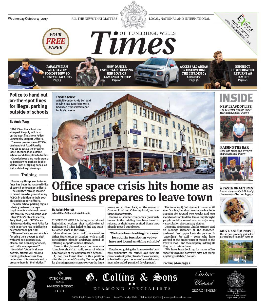 Read the Times of Tunbridge Wells 4th October 2017