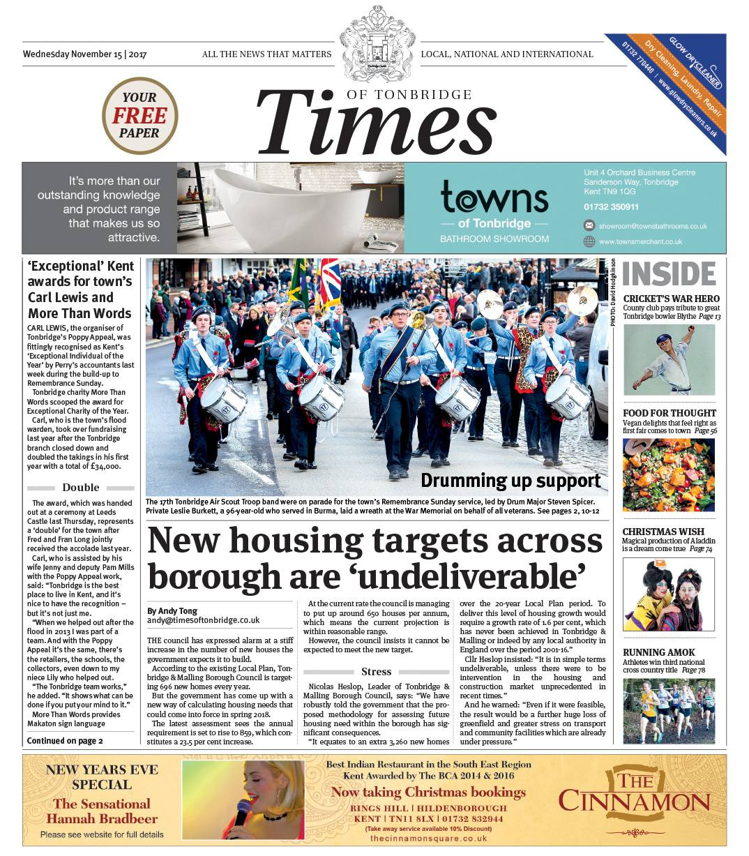 Read the Times of Tonbridge 15th November 2017