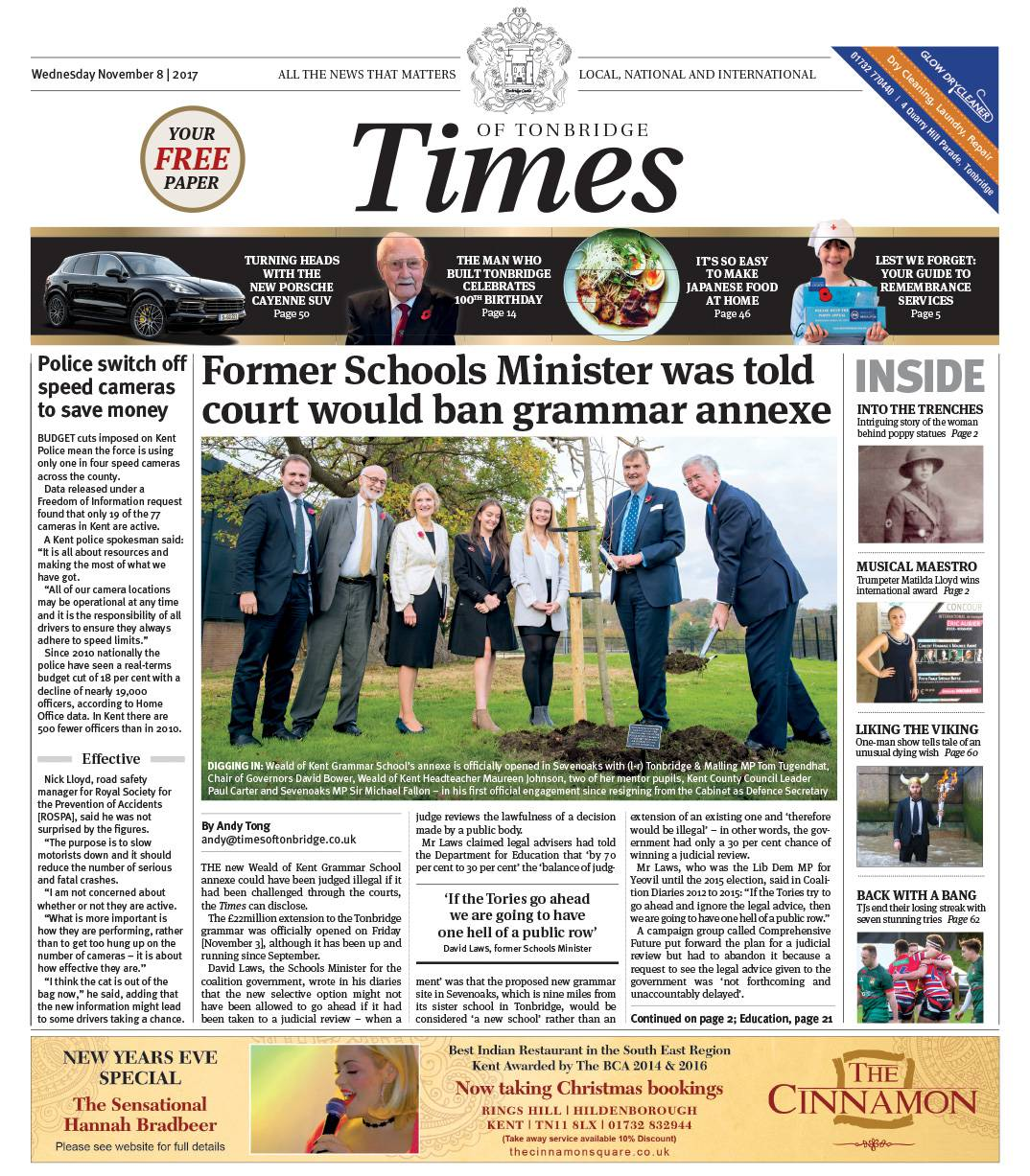 Read the Times of Tonbridge 8th November 2017