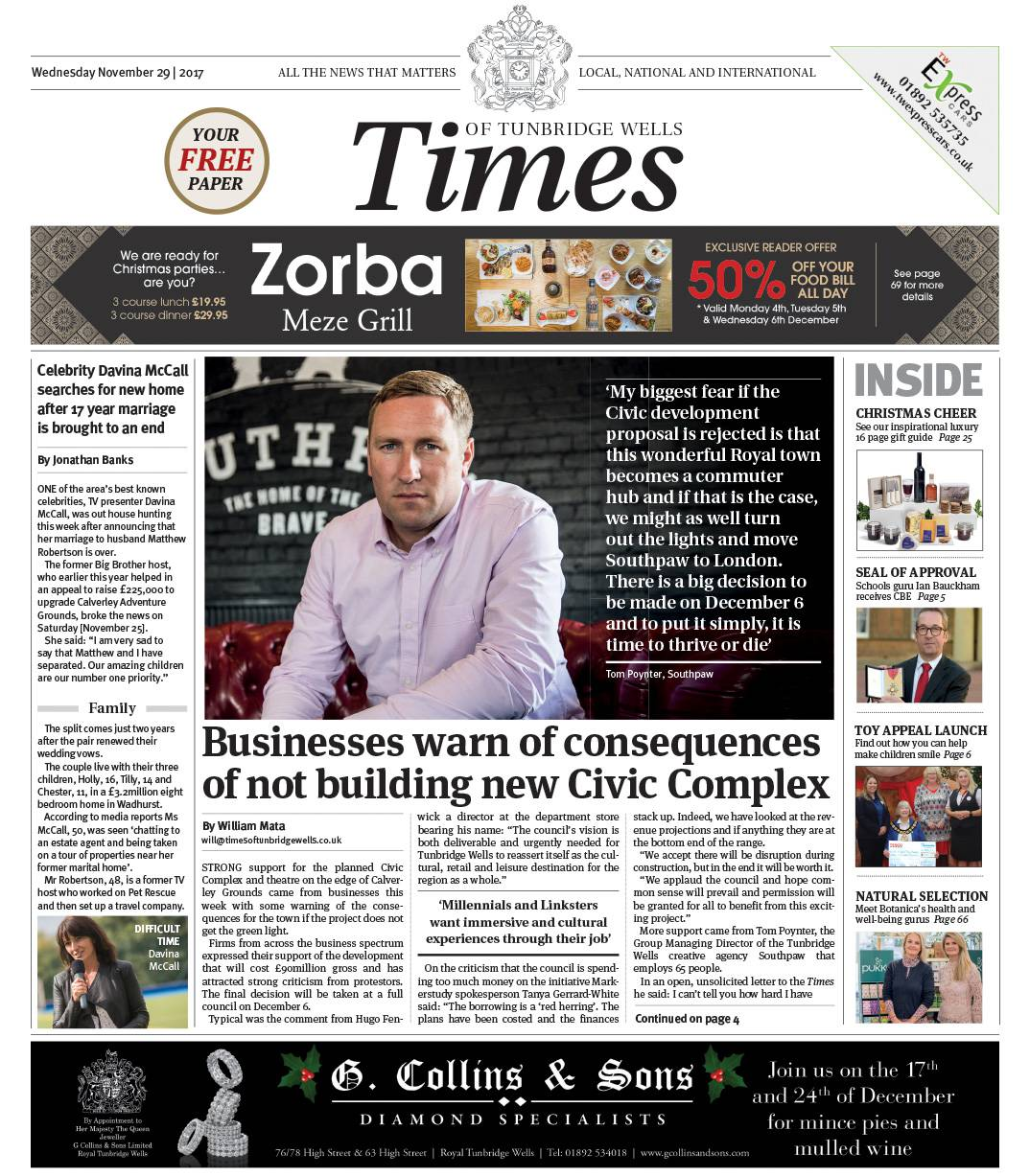 Read the Times of Tunbridge Wells 29th November 2018