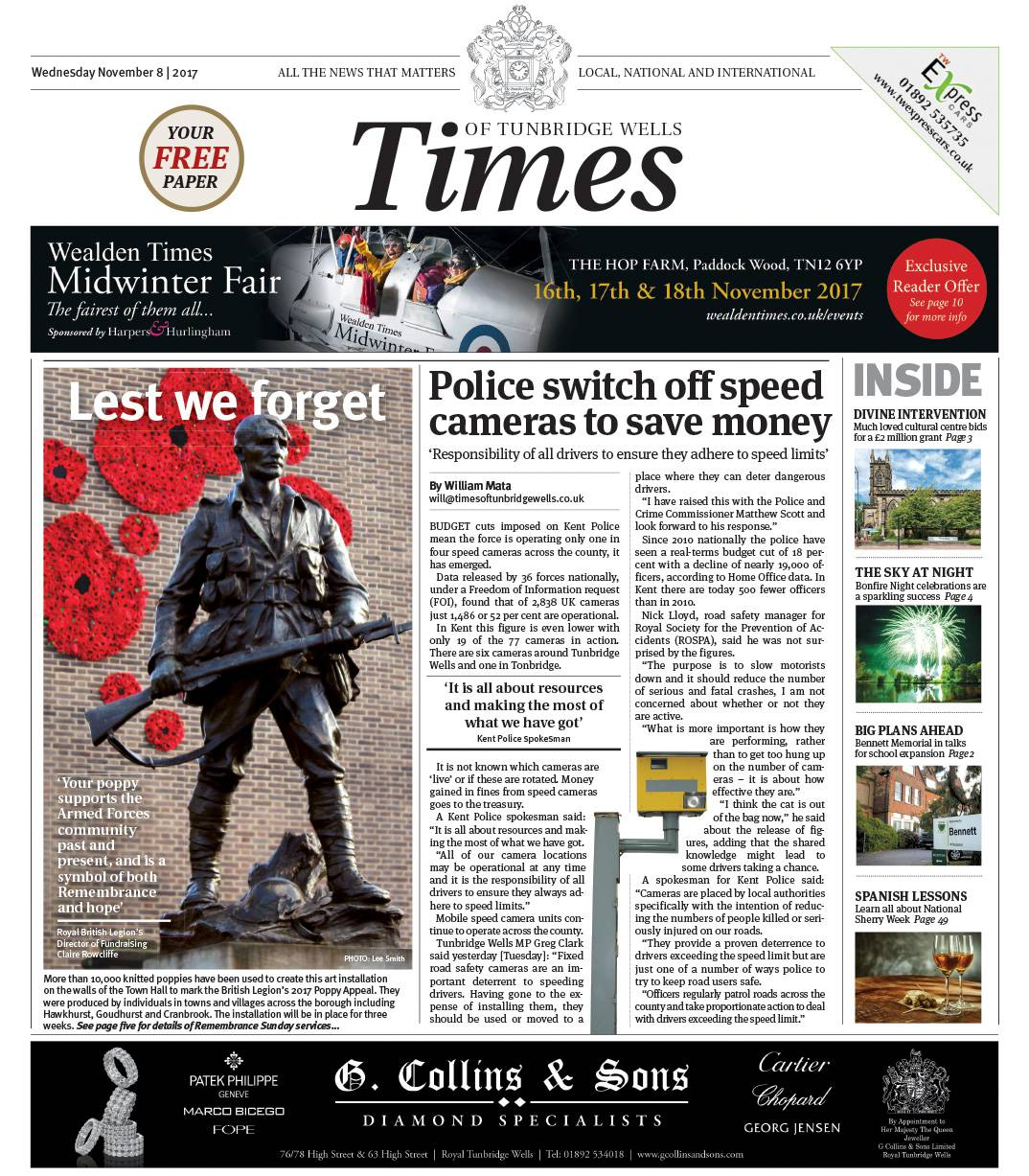 Read the Times of Tunbridge Wells 8th November 2017