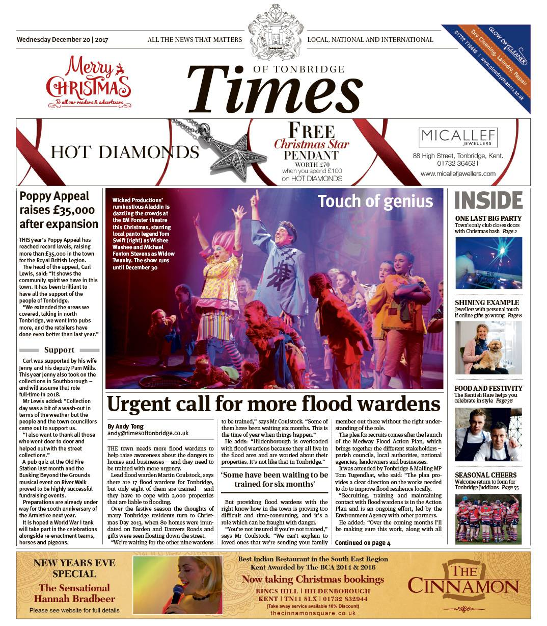 Read the Times of Tonbridge 20th December 2017