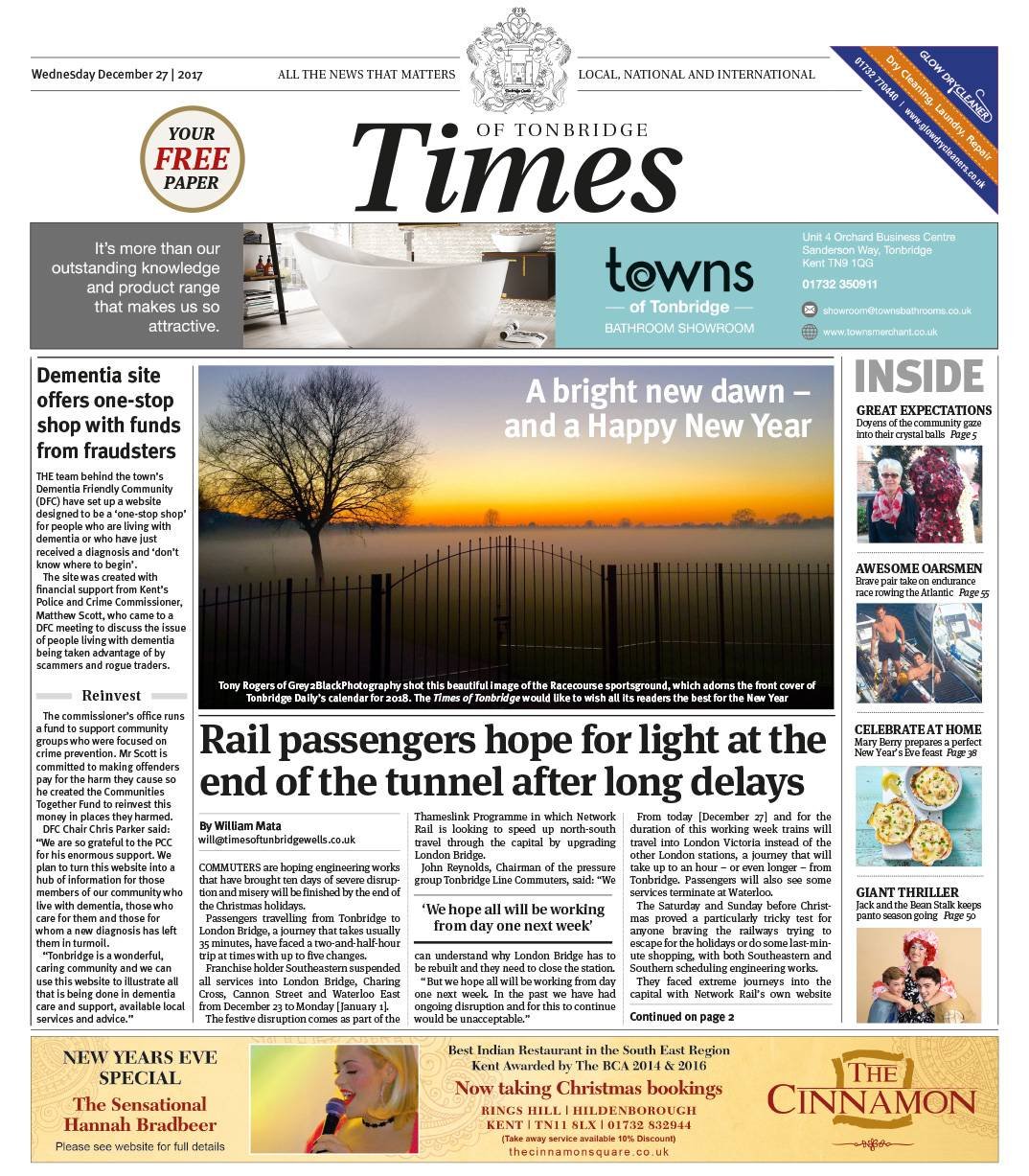Read the Times of Tonbridge 27th December 2017