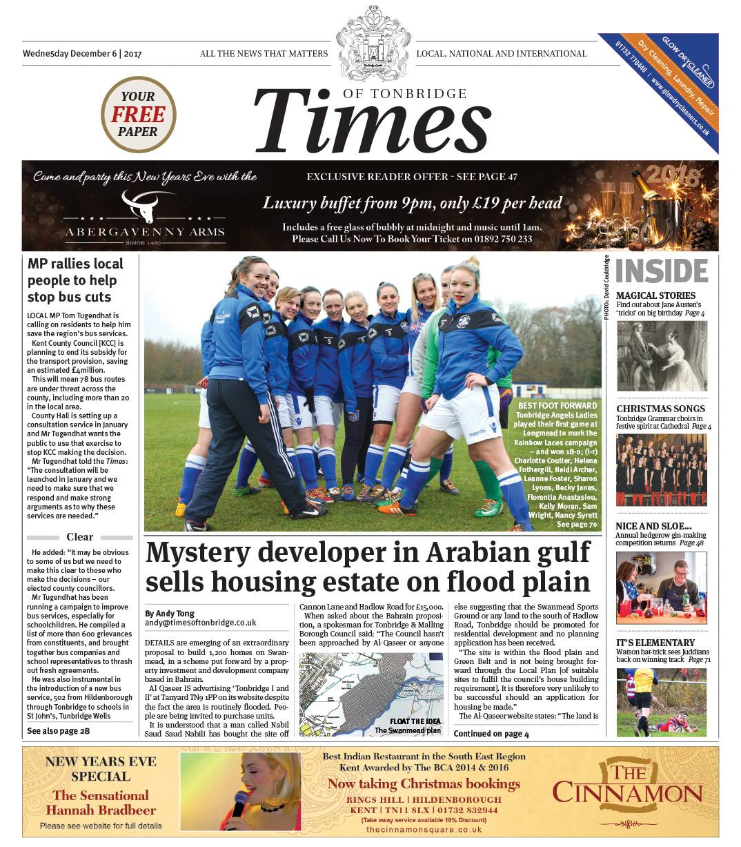 Read the Times of Tonbridge 6th December 2017