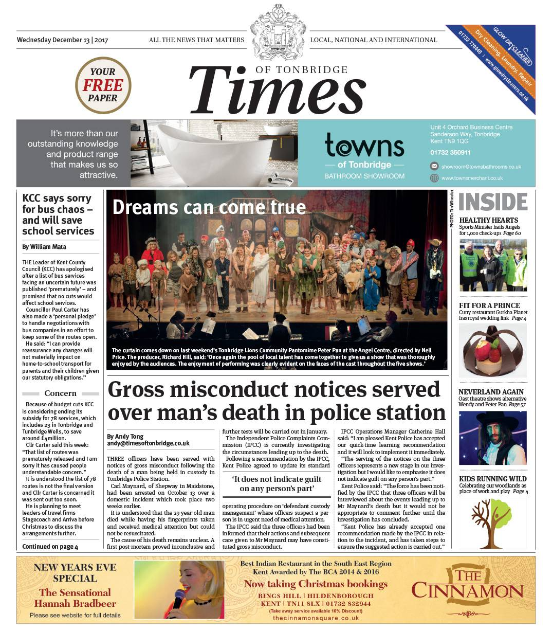 Read the Times of Tonbridge 13th December 2017