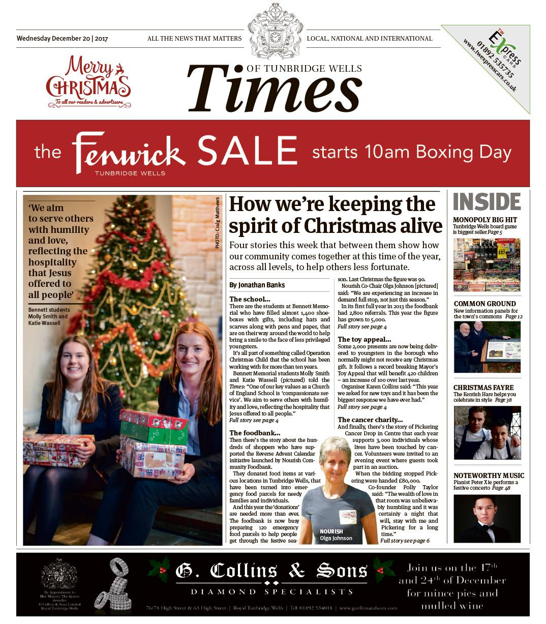 Read the Times of Tunbridge Wells 20th December 2017