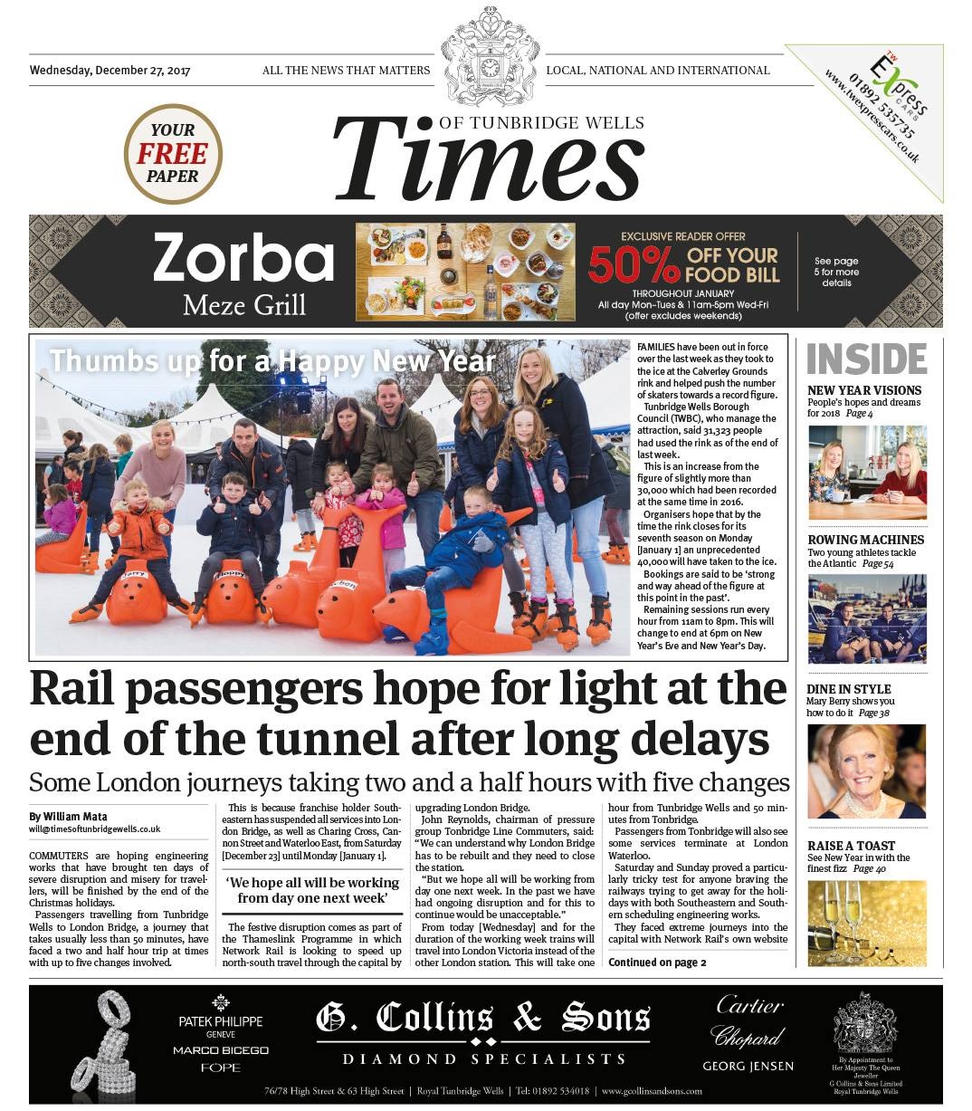 Read the Times of Tunbridge Wells 27th December 2017