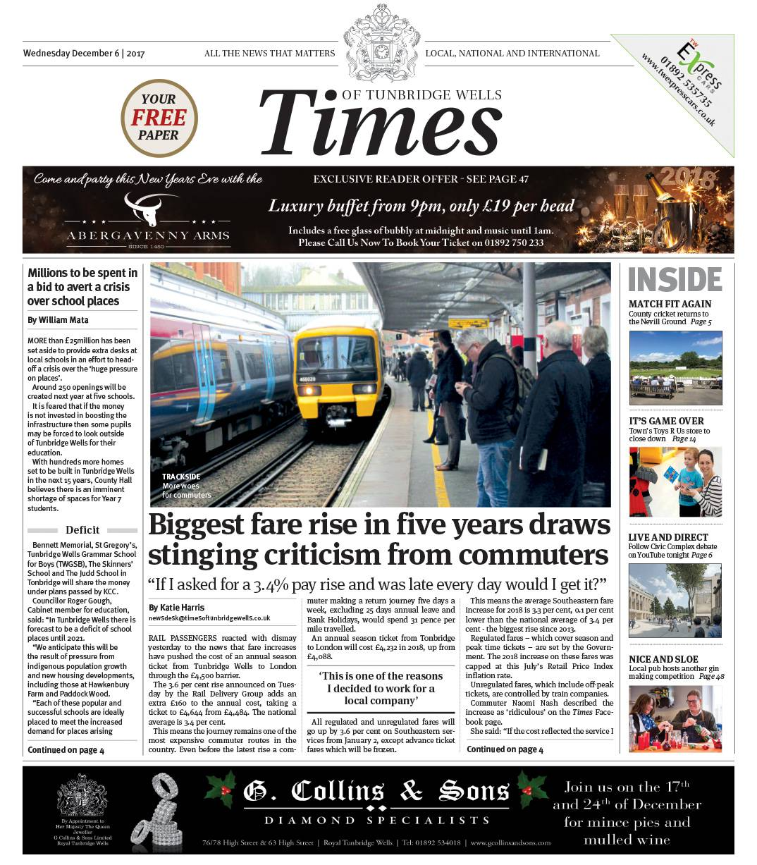 Read the Times of Tunbridge Wells 6th December 2017