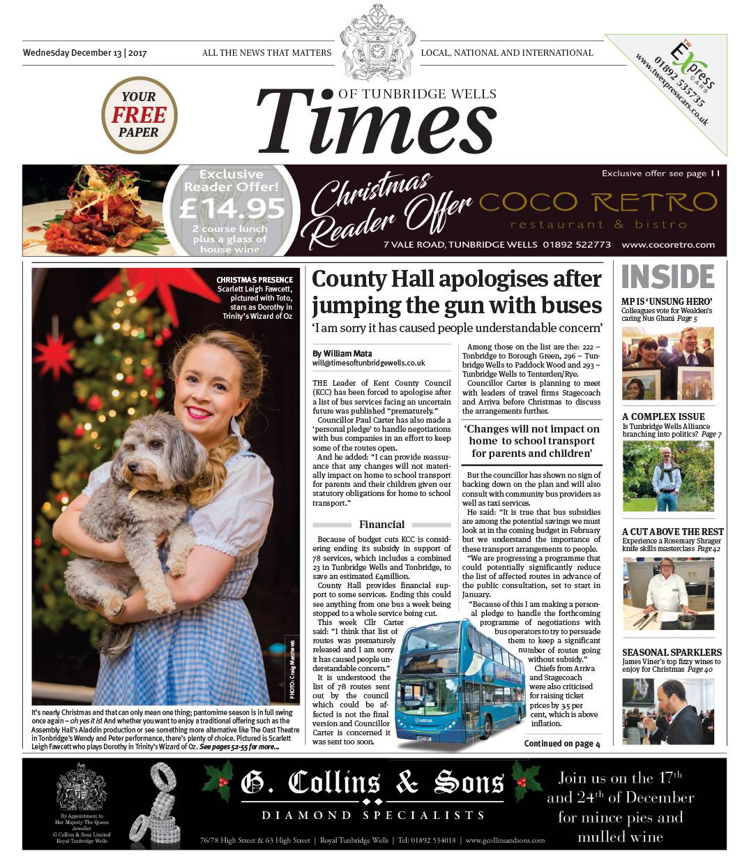 Read the Times of Tunbridge Wells 13th December 2017