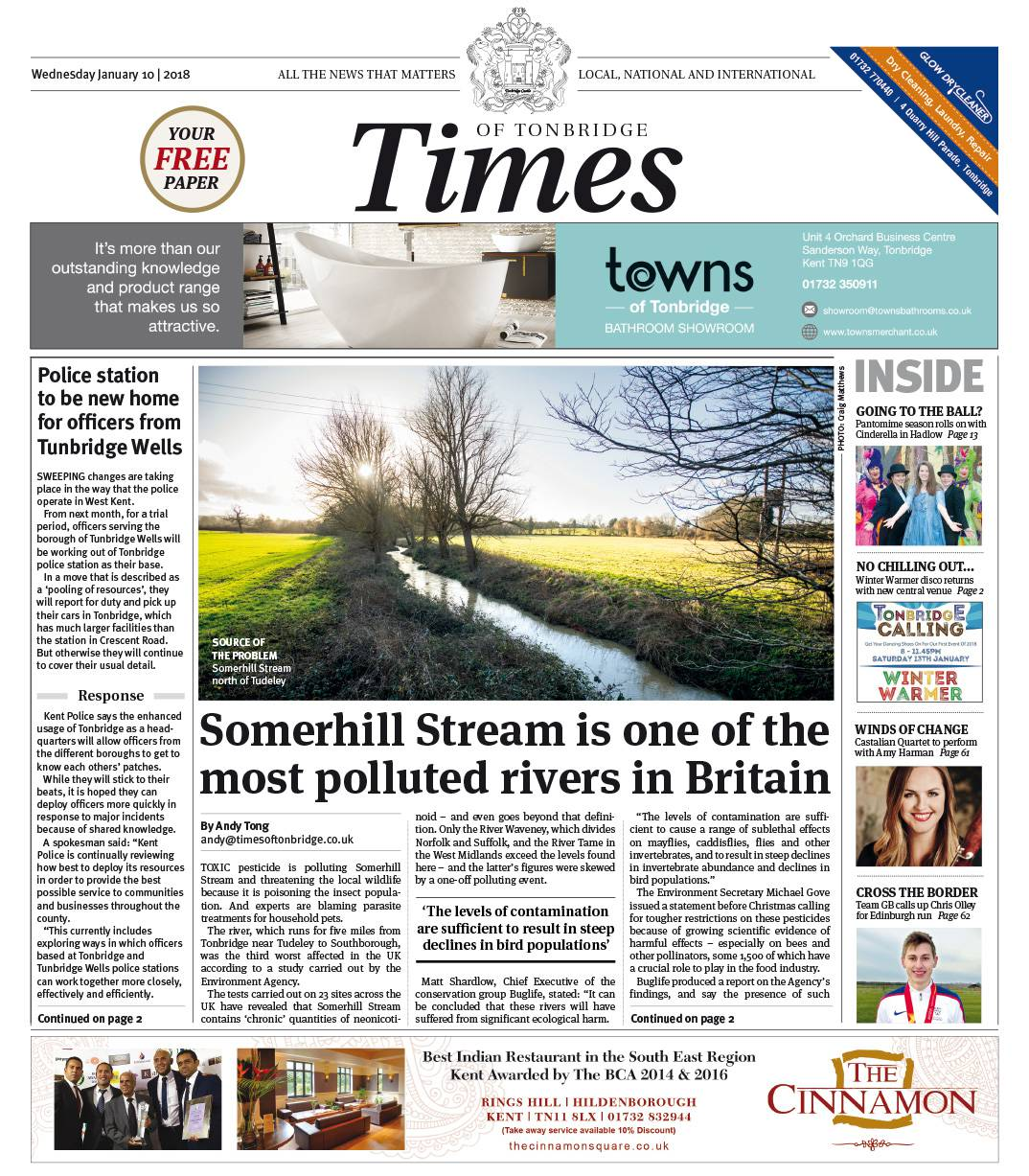 Read the Times of Tonbridge 10th January 2018