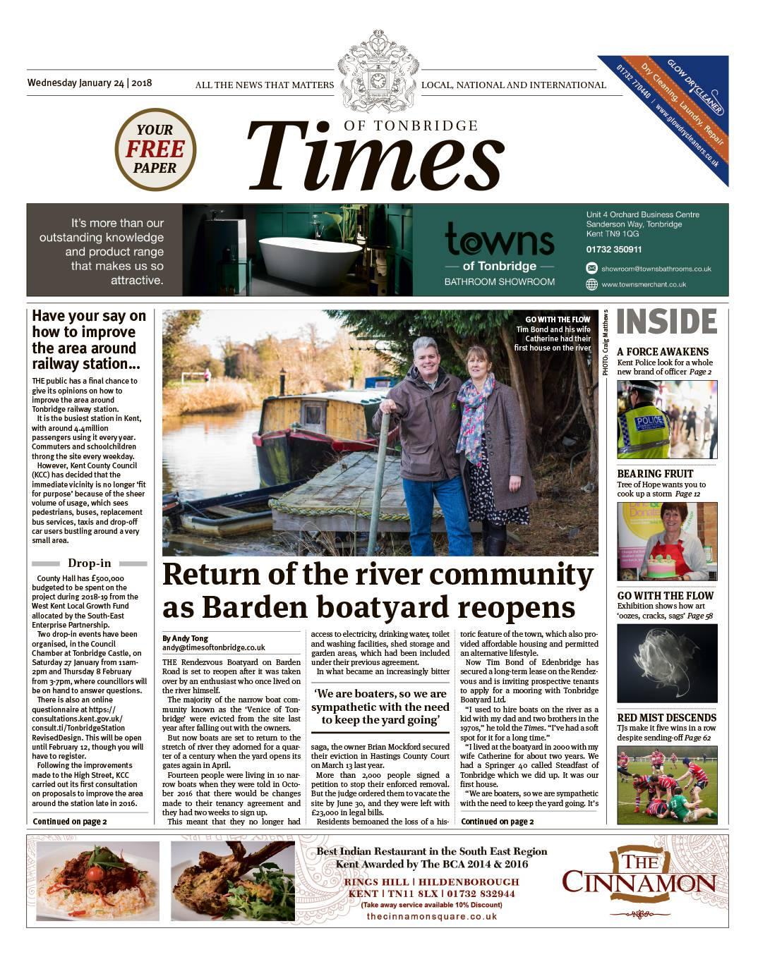 Read the Times of Tonbridge 24th January 2018