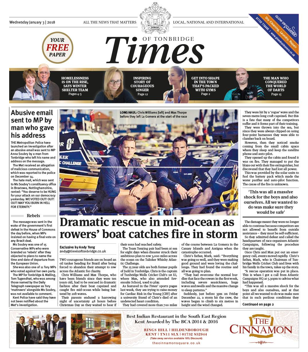 Read the Times of Tonbridge 3rd January 2018