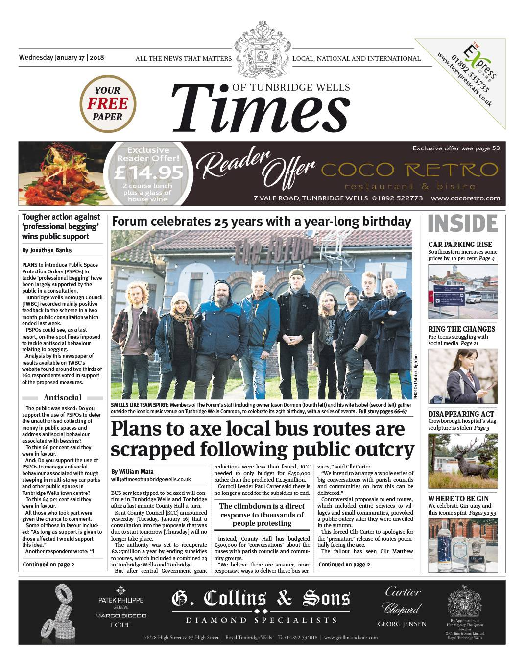 Read the Times of Tunbridge Wells 17th January 2018