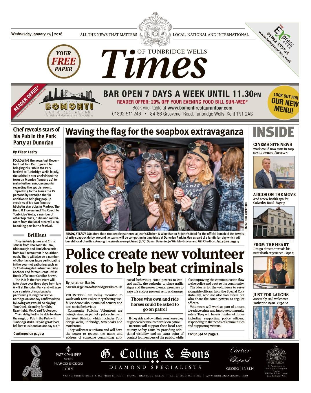 Read the Times of Tunbridge Wells 24th January 2018
