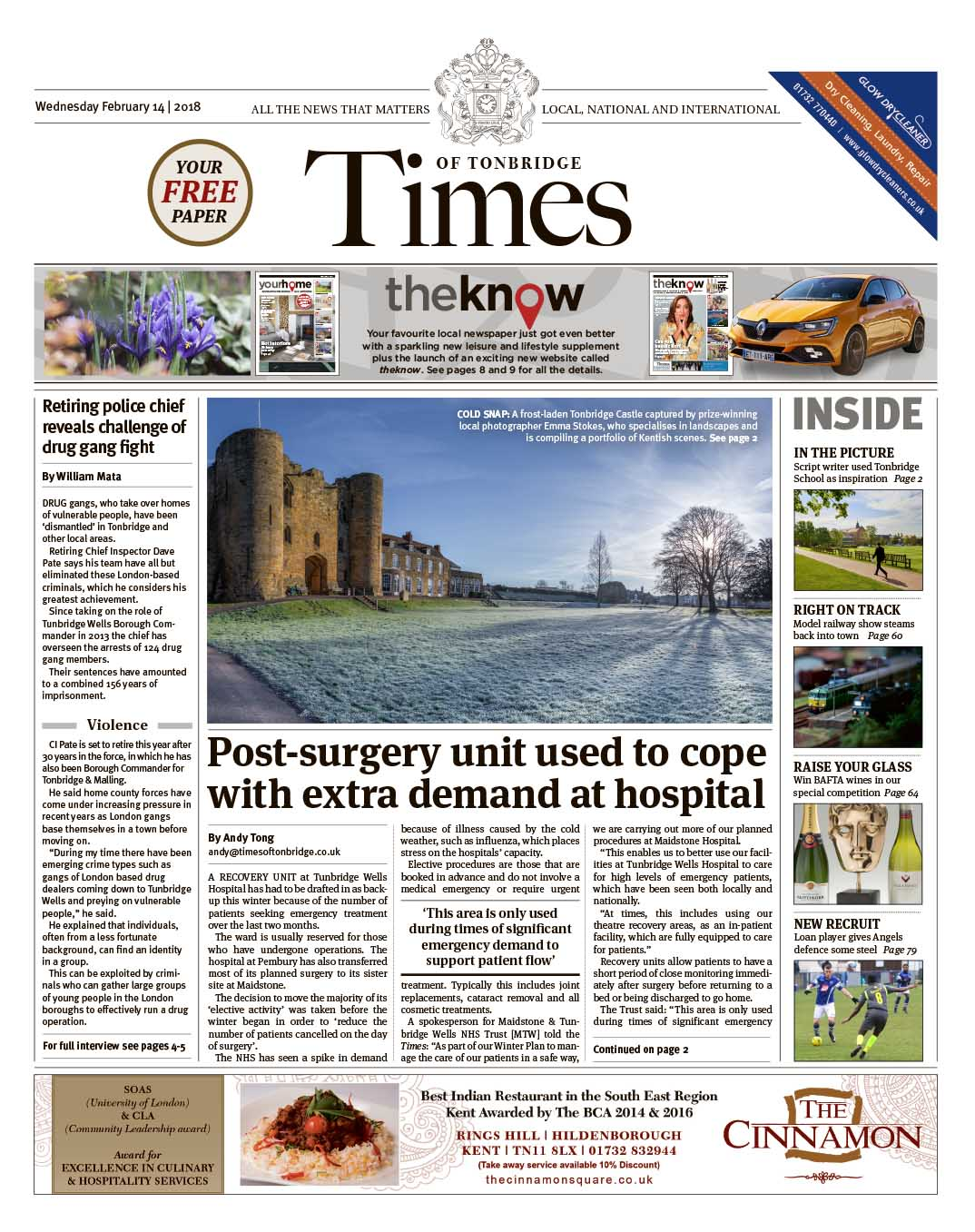 Read the Times of Tonbridge 14th February 2018