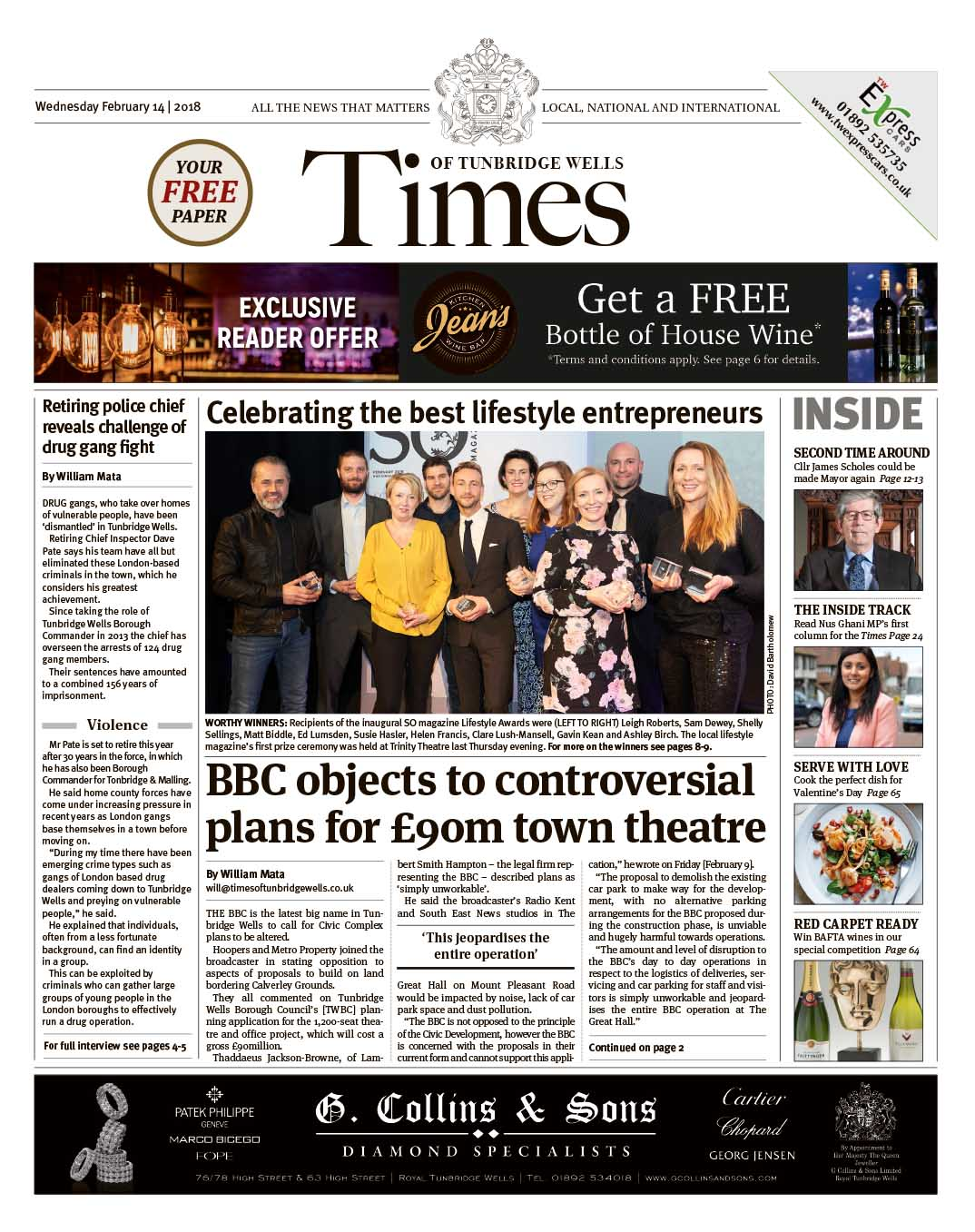 Read the Times of Tunbridge Wells 14th February 2018