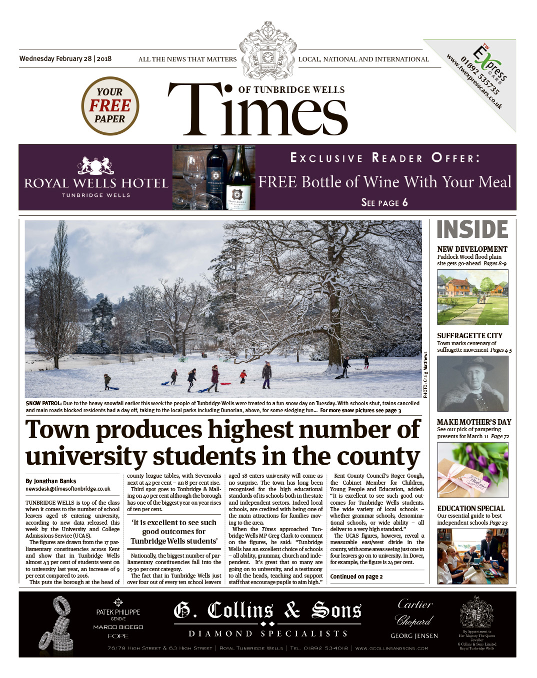Read the Times of Tunbridge Wells 28th February 2018