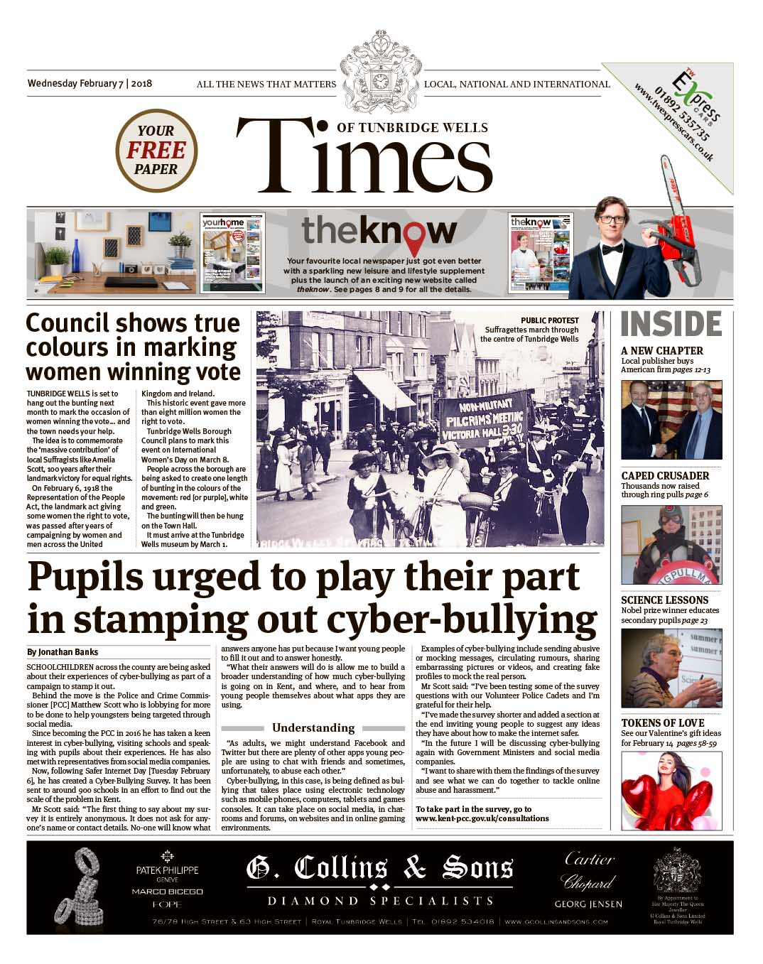 Read the Times of Tunbridge Wells 7th February 2018