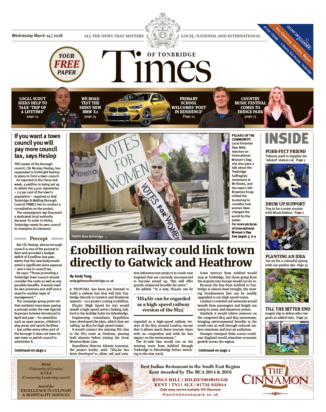 Read the Times of Tonbridge 14th March 2018