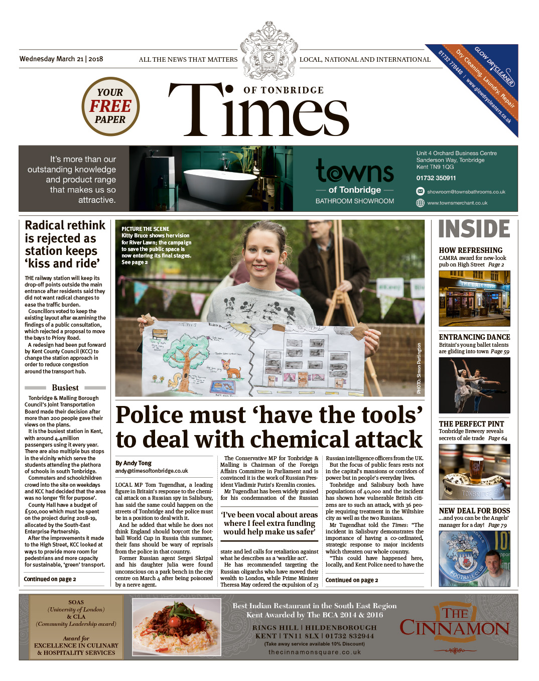 Read the Times of Tonbridge 21st March 2018