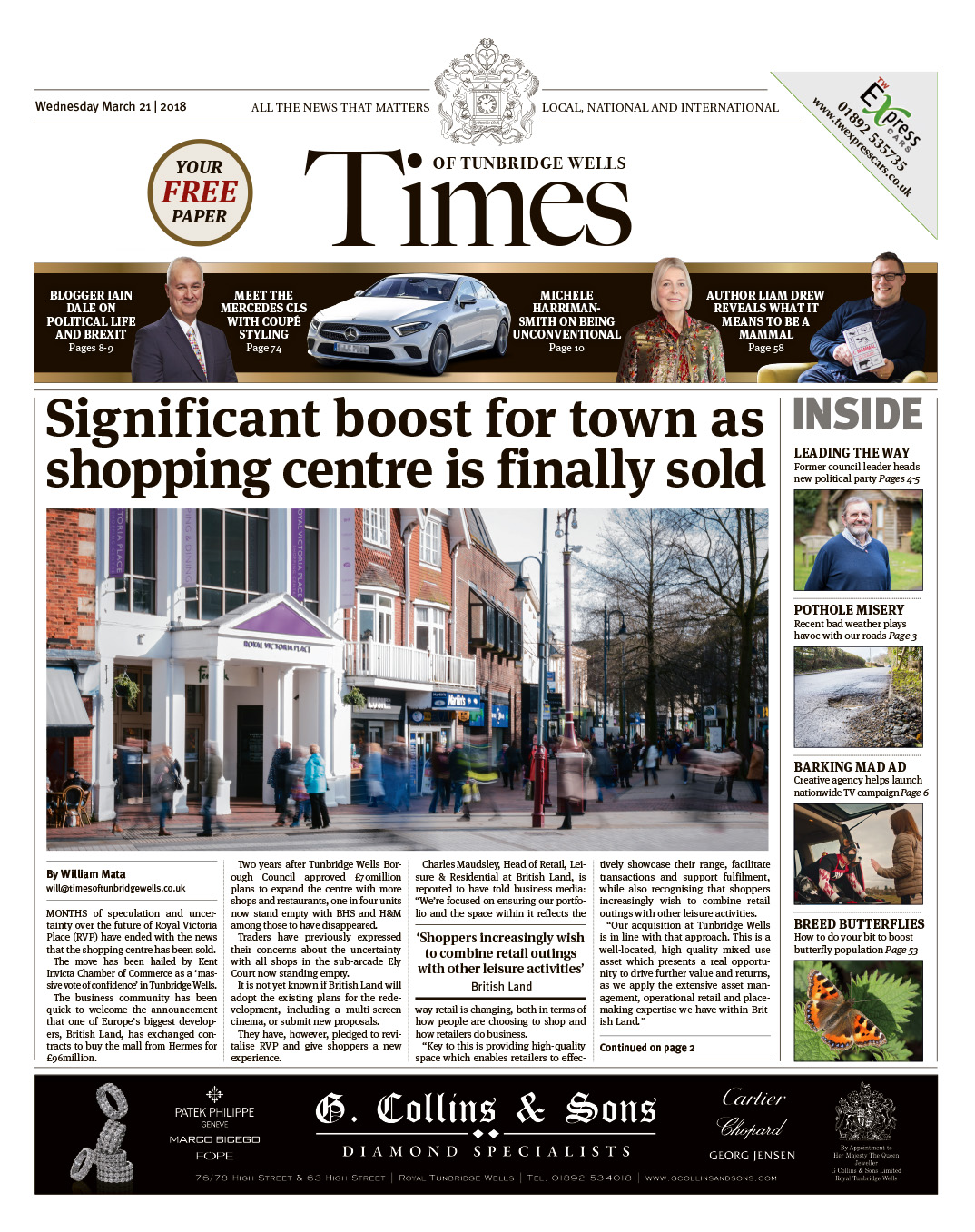 Read the Times of Tunbridge Wells 21st March 2018