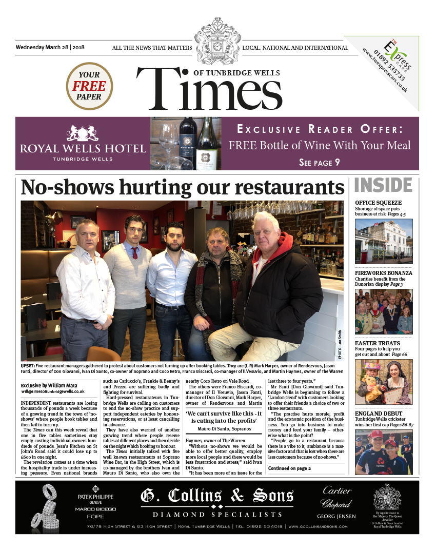 Read the Times of Tunbridge Wells 28th March 2018