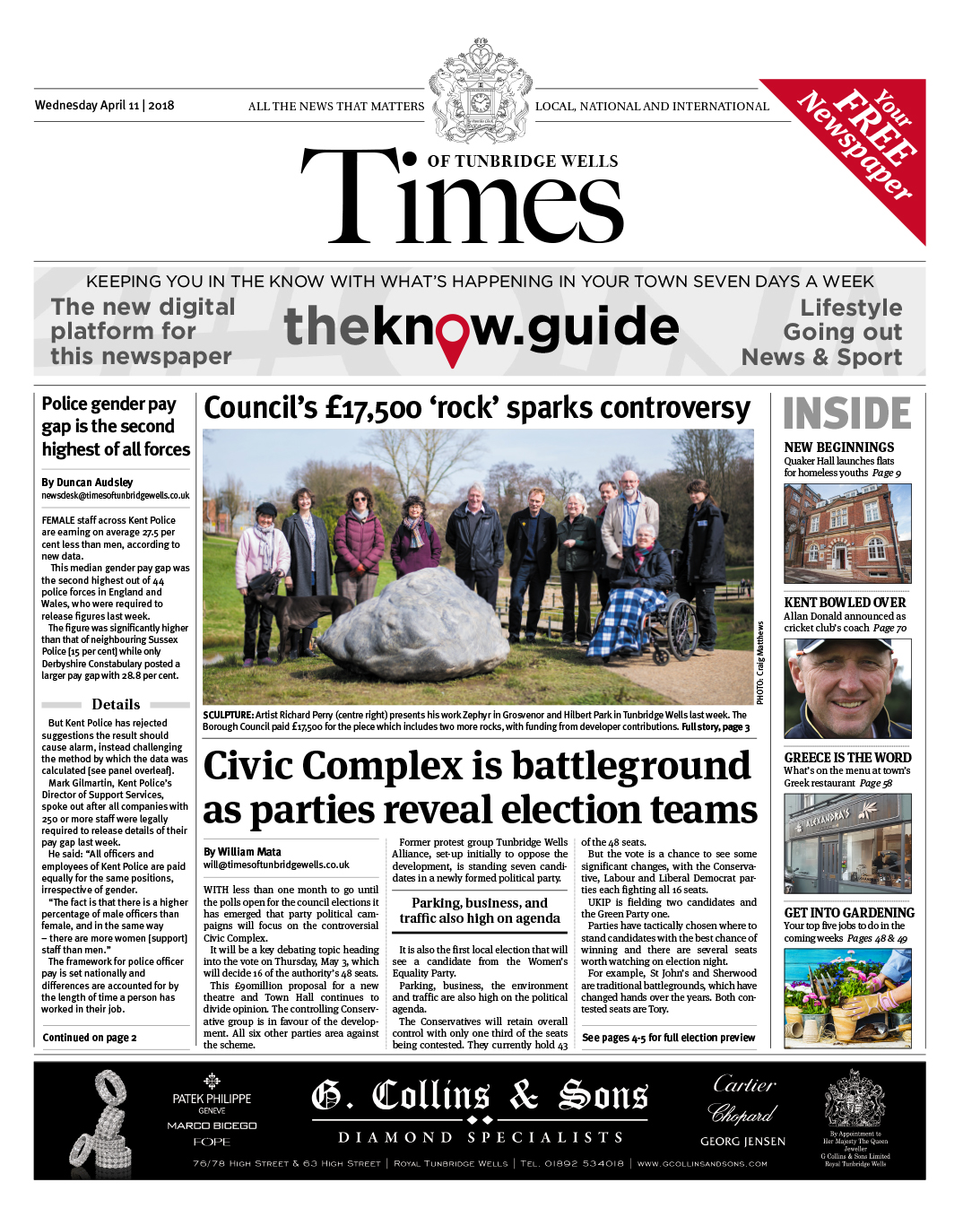 Read the Times of Tunbridge Wells 11th April 2018