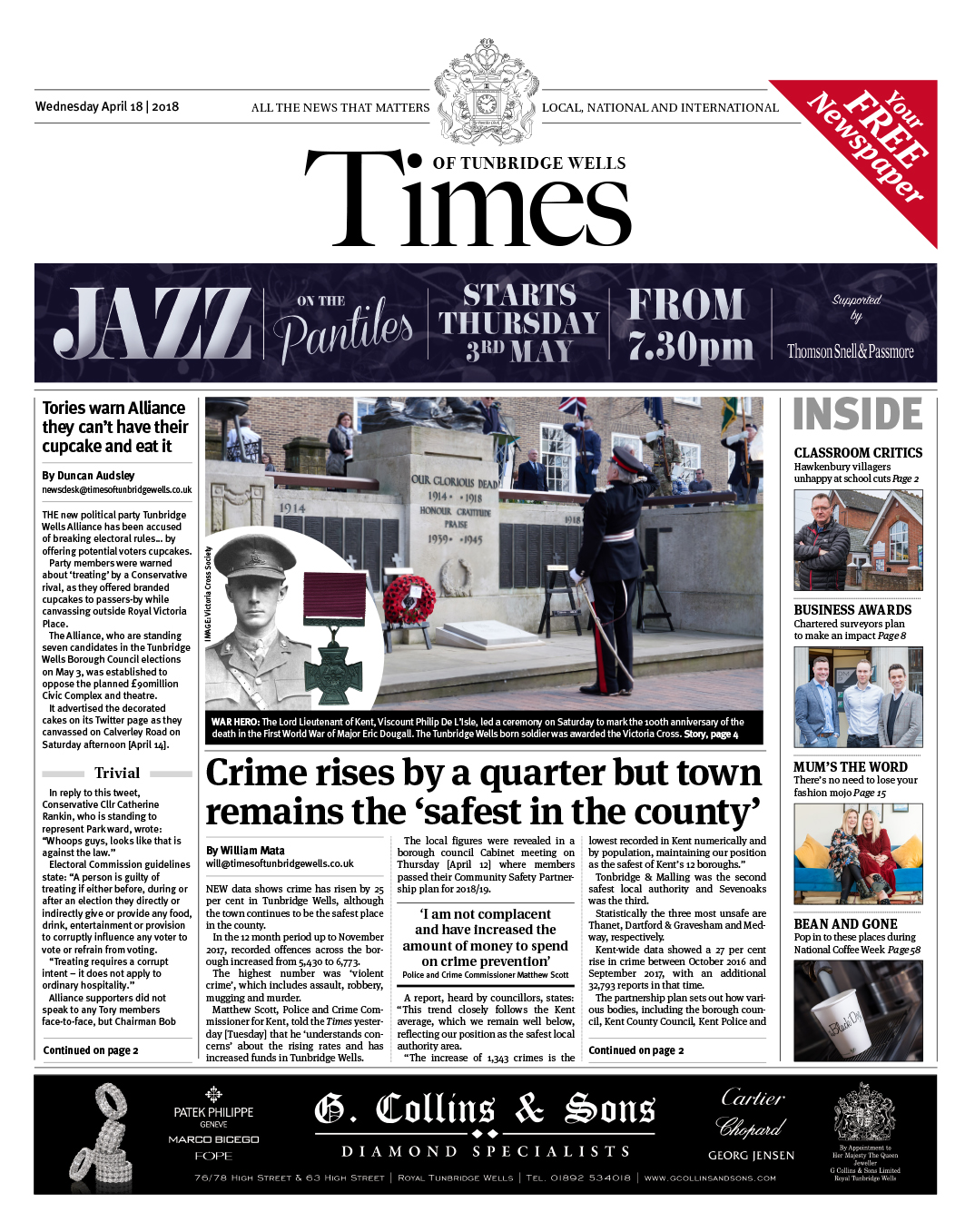 Read the Times of Tunbridge Wells 18th April 2018