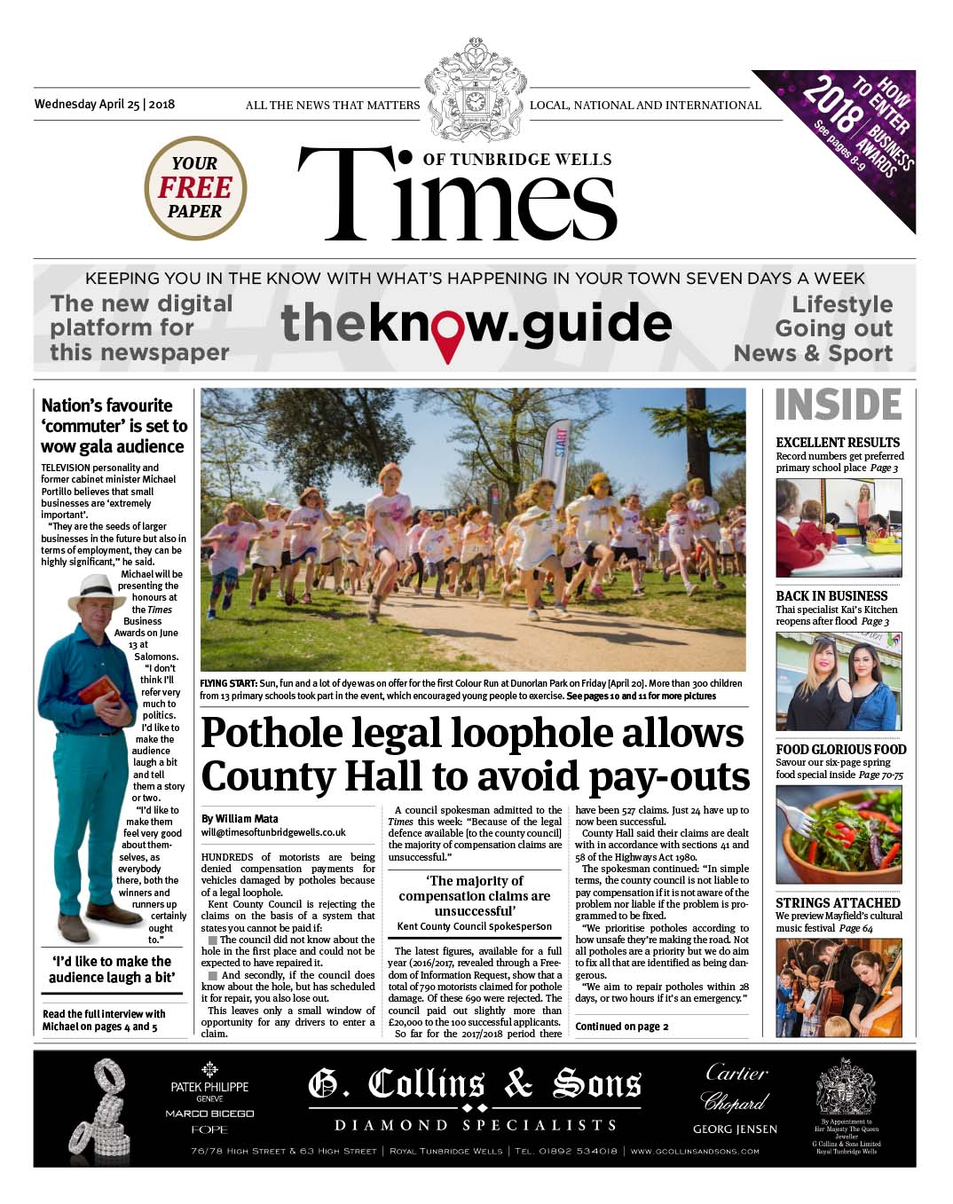 Read the Times of Tunbridge Wells 25th April 2018