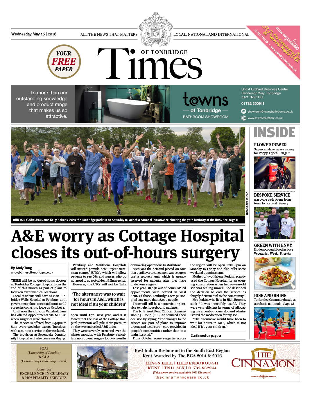 Read the Times of Tonbridge 16th May 2018