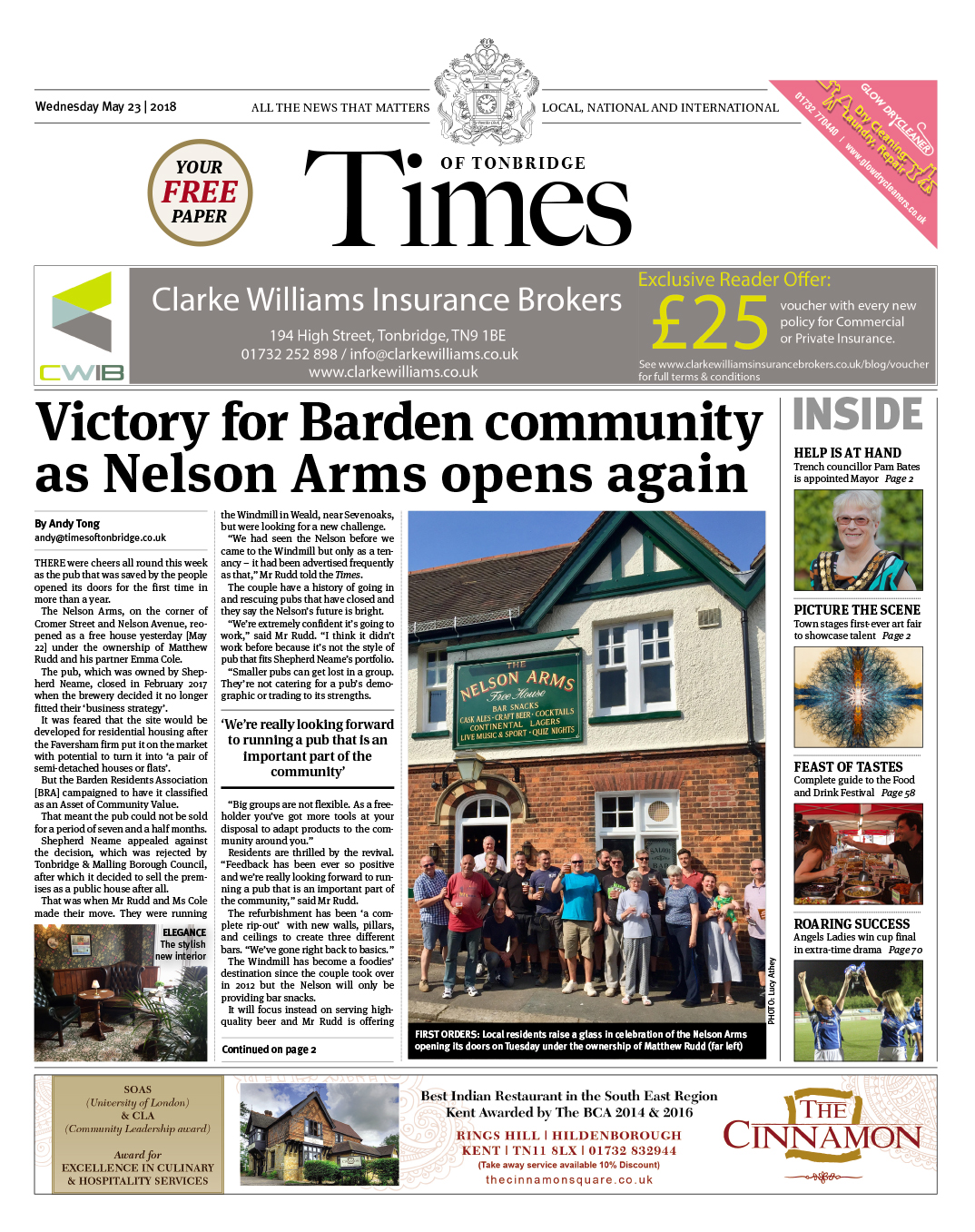 Read the Times of Tonbridge 23rd May 2018