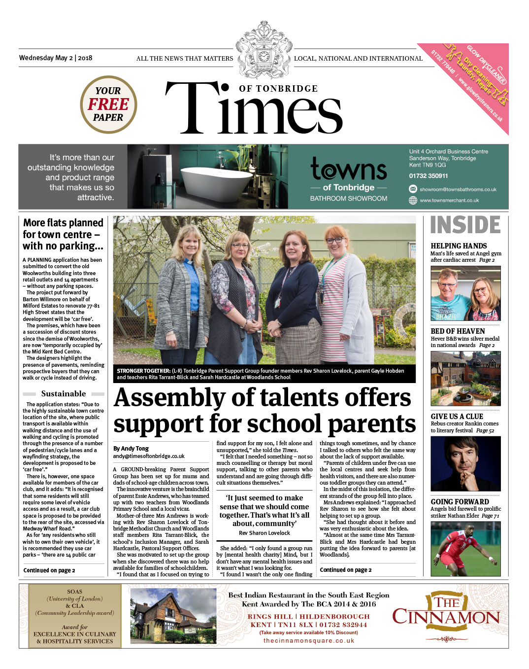 Read the Times of Tonbridge 2nd May 2018