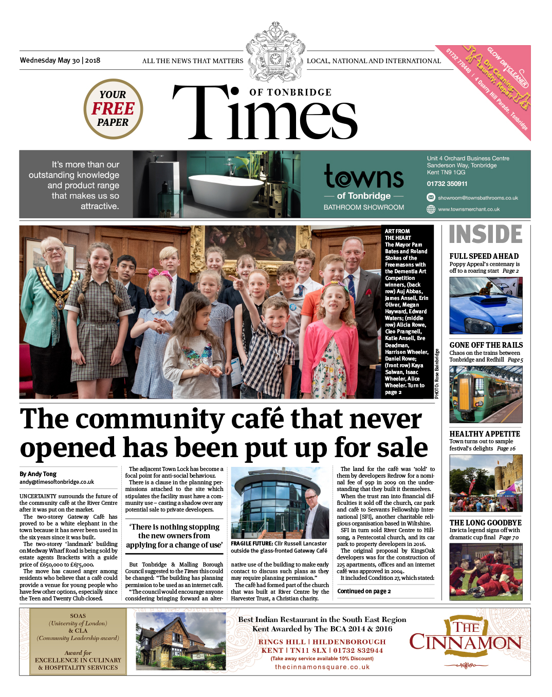 Read the Times of Tonbridge 30th May 2018