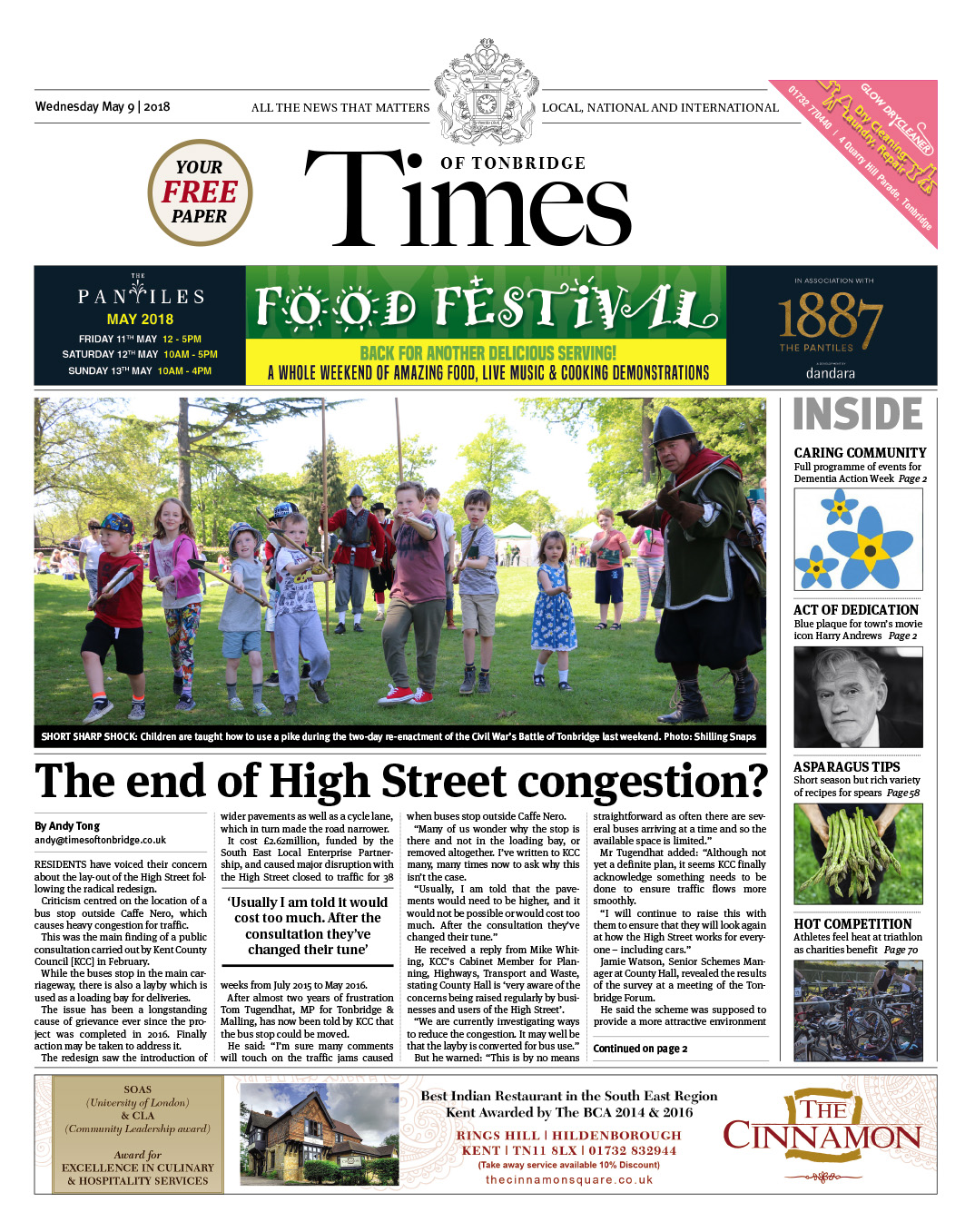 Read the Times of Tonbridge 9th May 2018